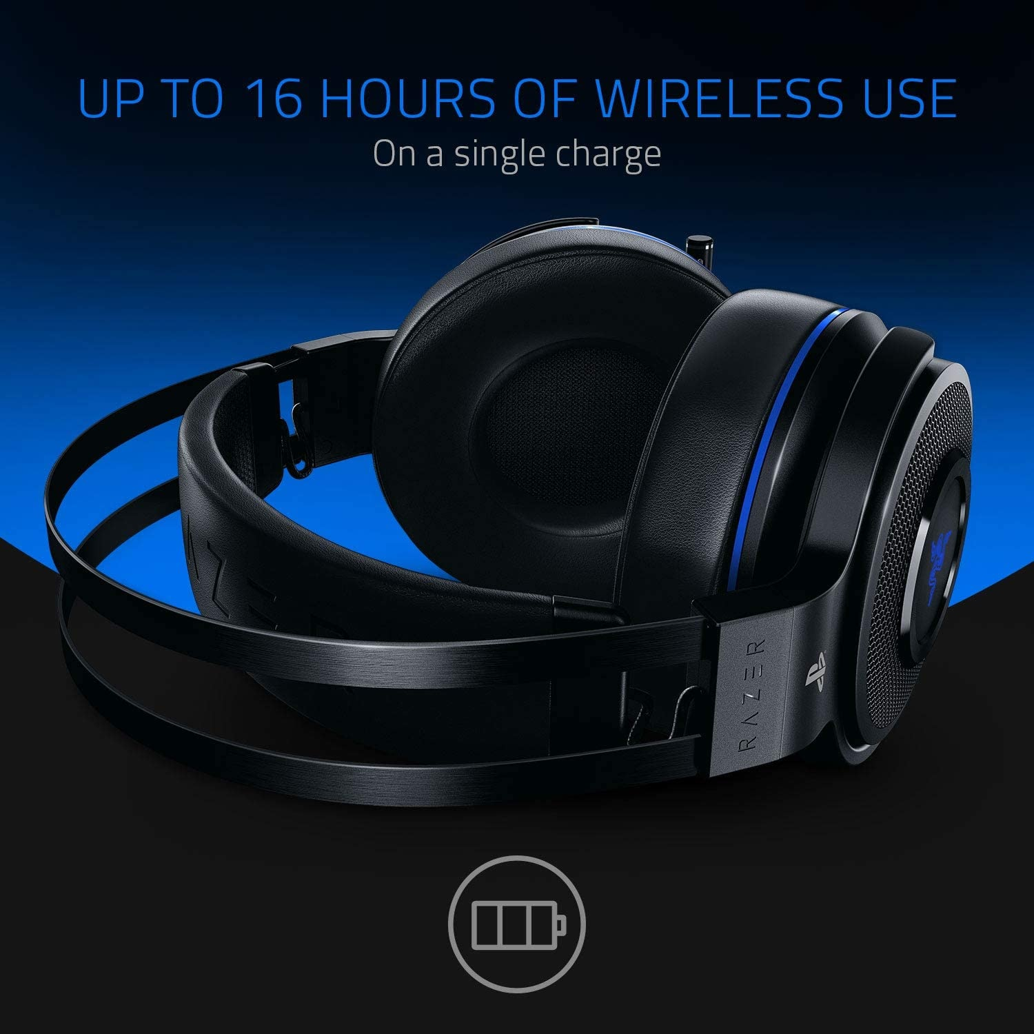 Razer Thresher 7.1 for PlayStation - Wireless Gaming Headset for PS4, PS5 and PC Wireless Headphones, Dolby 7.1 Black - 6