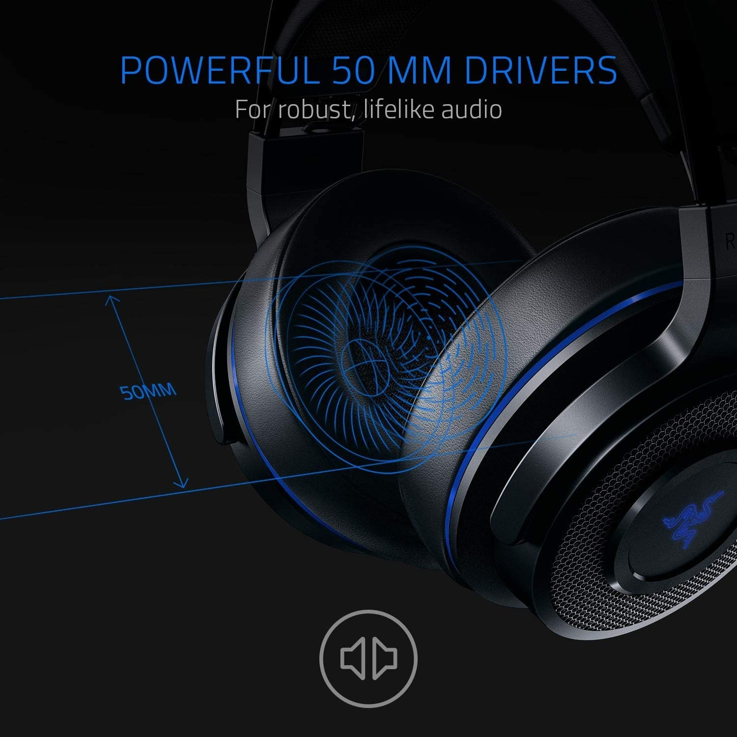 Razer Thresher 7.1 for PlayStation - Wireless Gaming Headset for PS4, PS5 and PC Wireless Headphones, Dolby 7.1 Black - 3