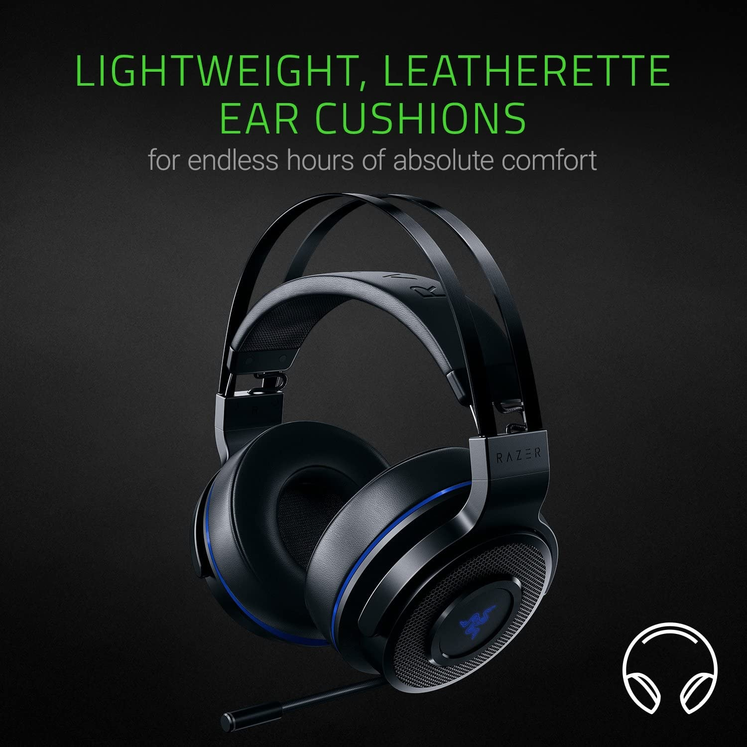 Razer Thresher 7.1 for PlayStation - Wireless Gaming Headset for PS4, PS5 and PC Wireless Headphones, Dolby 7.1 Black - 2