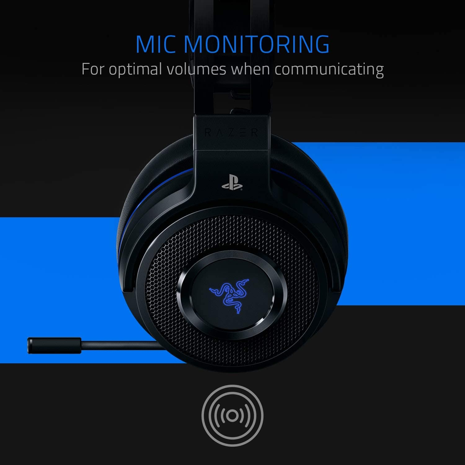 Razer Thresher 7.1 for PlayStation - Wireless Gaming Headset for PS4, PS5 and PC Wireless Headphones, Dolby 7.1 Black - 7