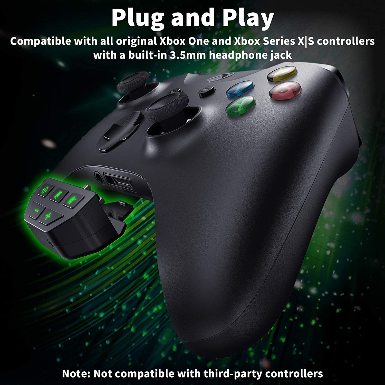 Sound Enhancer For Xbox Series X S One S Wireless Controller Stereo Headset Adapter Joystick Audio Headphone Converter Gaming - 4