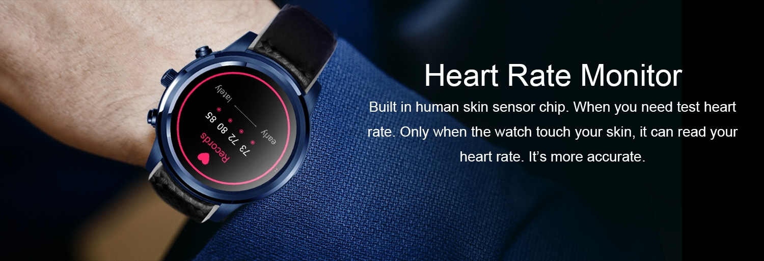 LEMFO LEM5 PRO Watch Phone-1 IMEI, 3G, WiFi, Music, Pedometer, Heart Rate, Android OS - 8