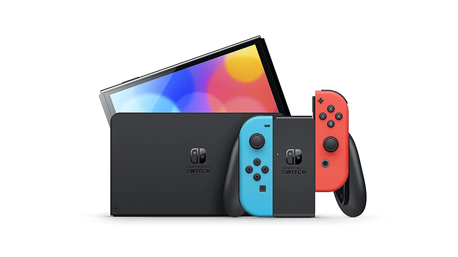 Nintendo Switch OLED Console - Neon Blue/Neon Red - 5