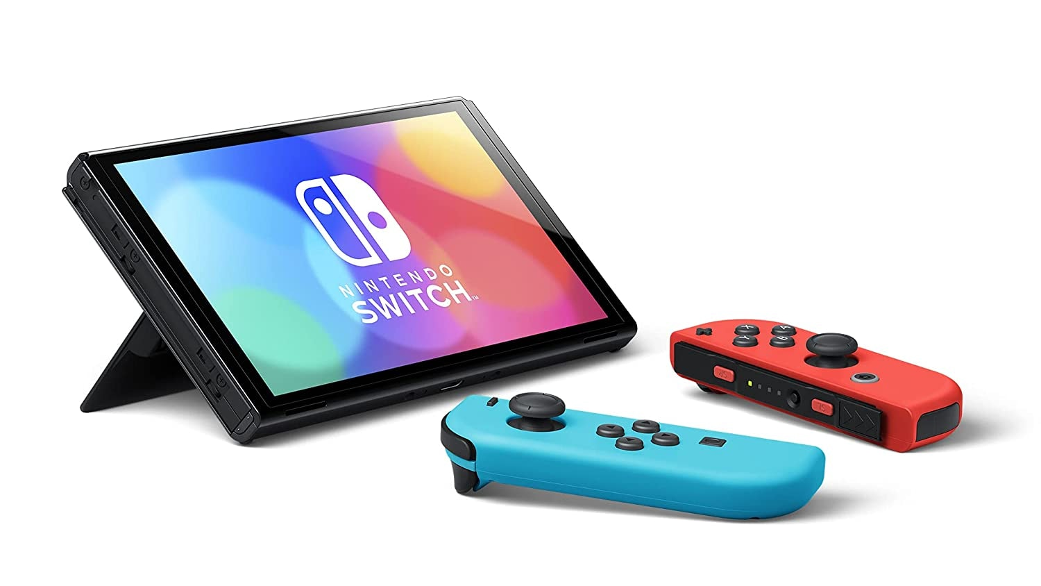 Nintendo Switch OLED Console - Neon Blue/Neon Red - 4