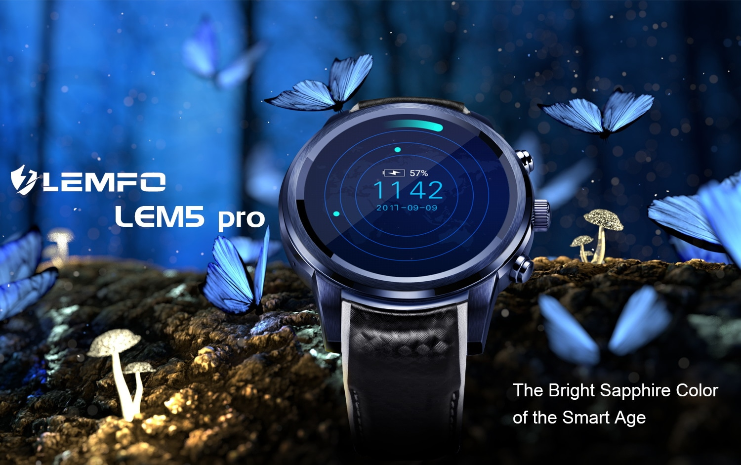 LEMFO LEM5 PRO Watch Phone-1 IMEI, 3G, WiFi, Music, Pedometer, Heart Rate, Android OS - 4