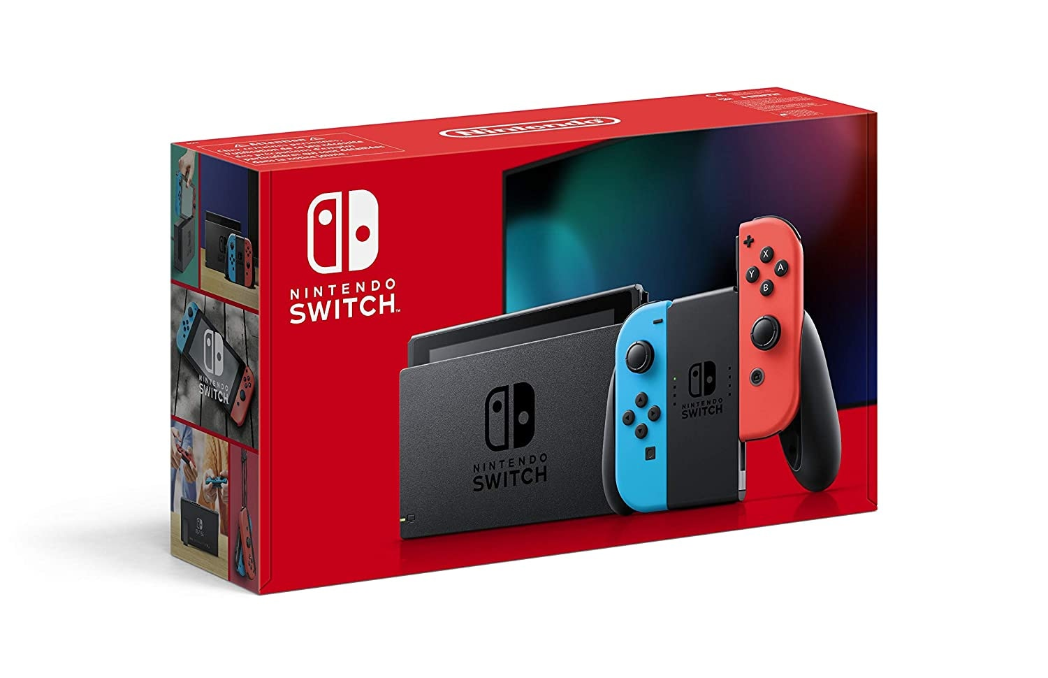 Nintendo Switch with Neon Blue and Neon Red Joy-Con Touchscreen LCD Display NVIDIA Custom Tegra Processor Carrying Case Multi-Colored - 1