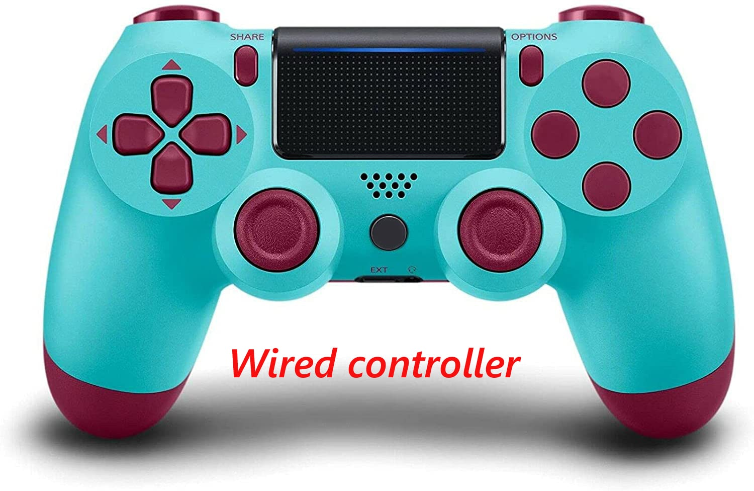 PS4 Wired Controller Dual Shock 4 Gamepad For Sony Playstation 4 Berry Blue - 1