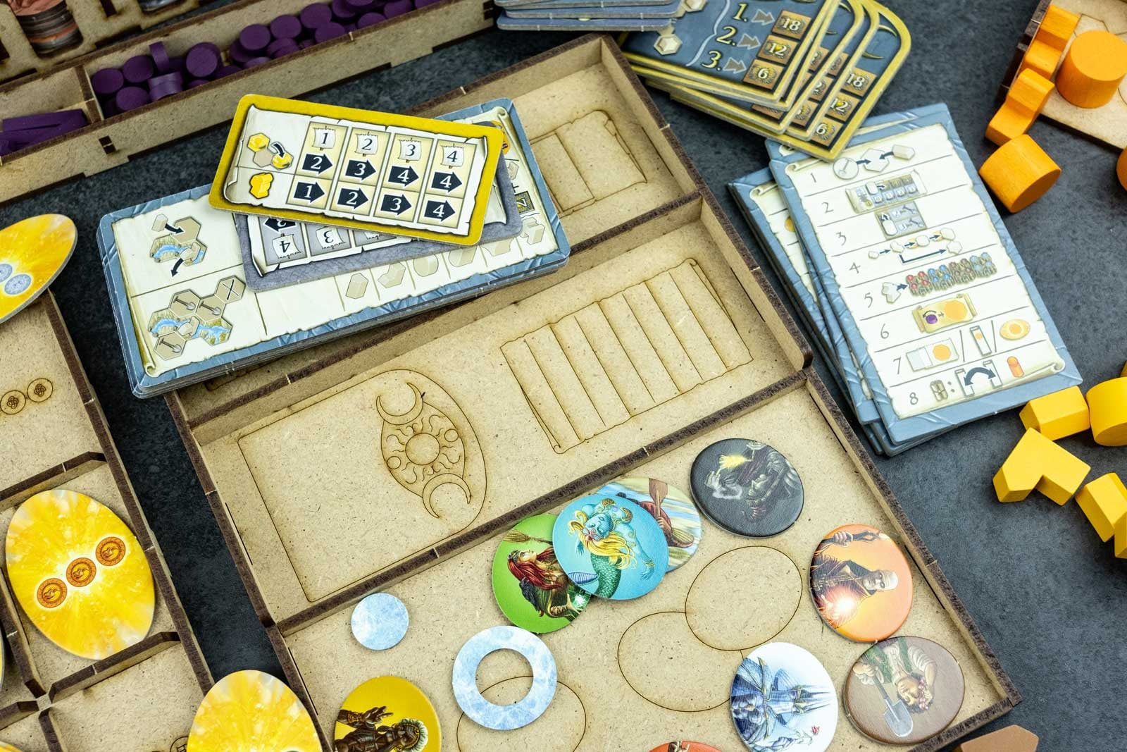 Terra Mystica All In (base + Merchants of the Seas; Fire & Ice exp)Organizer Insert - 11