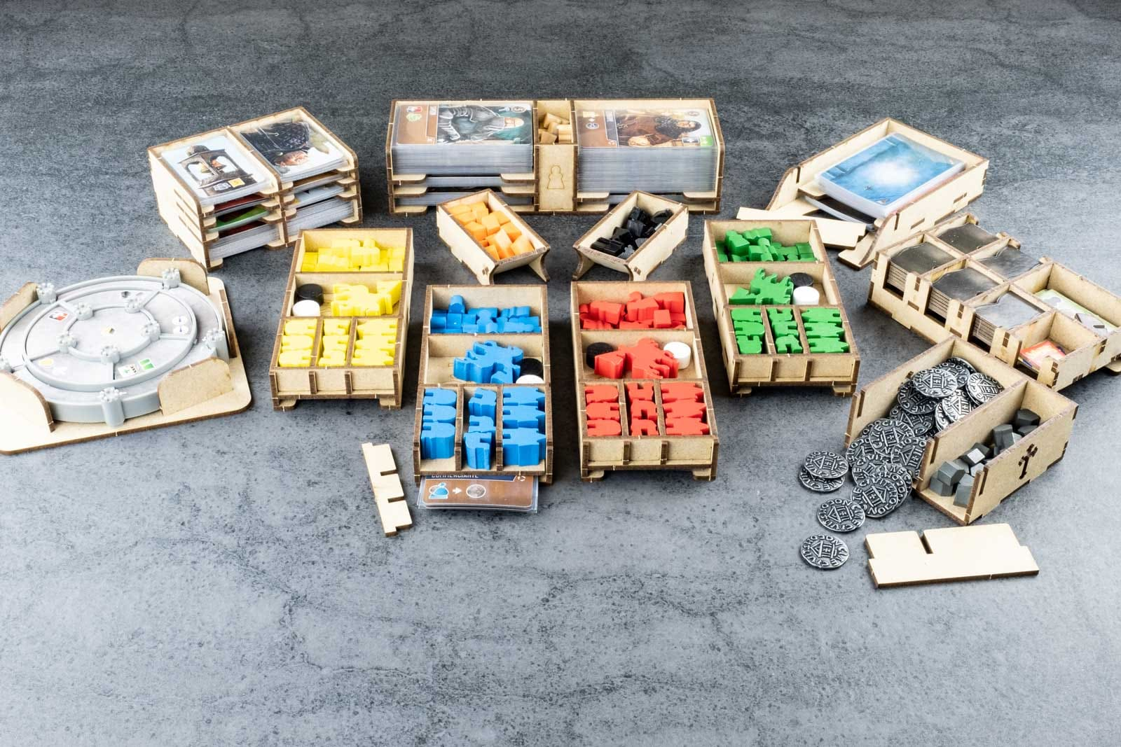 Viscounts Of The West Kingdom (Base Game Or With The West Kingdom Tomesaga Exp) Organizer Insert+Lifted Base - 4