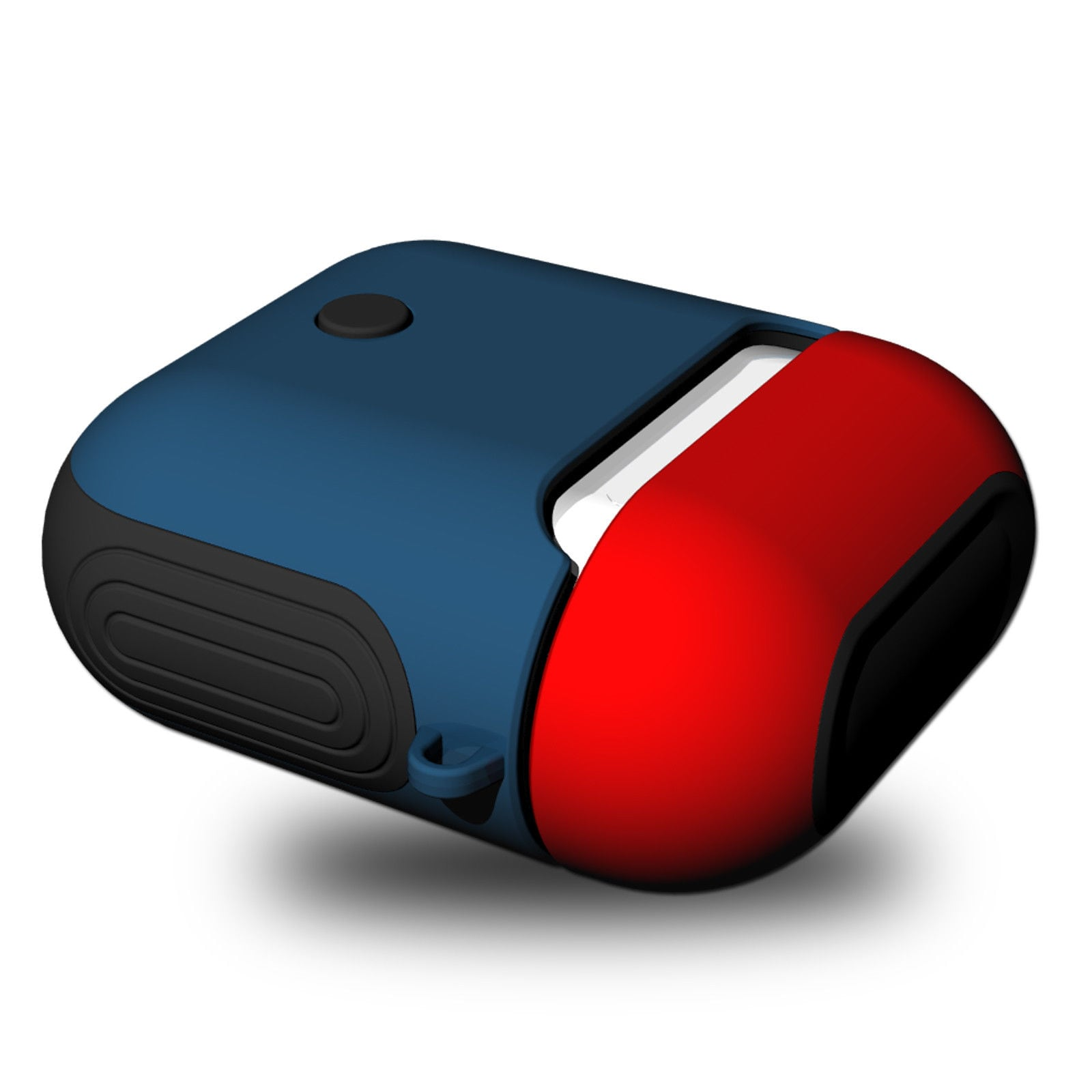 AirPods Silicone Case Protective Cover for Apple Airpod Charging Case Red blue - 1