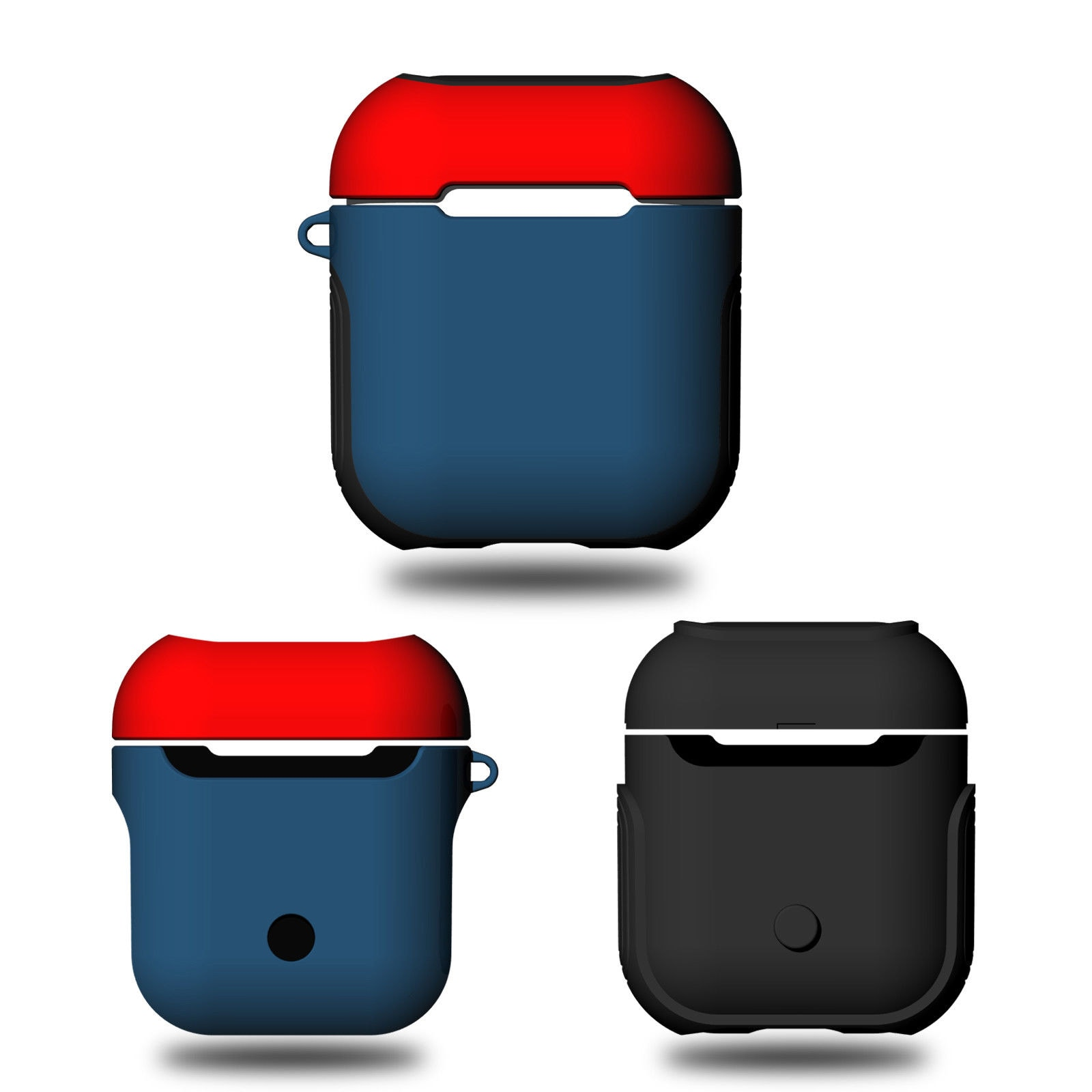 AirPods Silicone Case Protective Cover for Apple Airpod Charging Case Red blue - 4