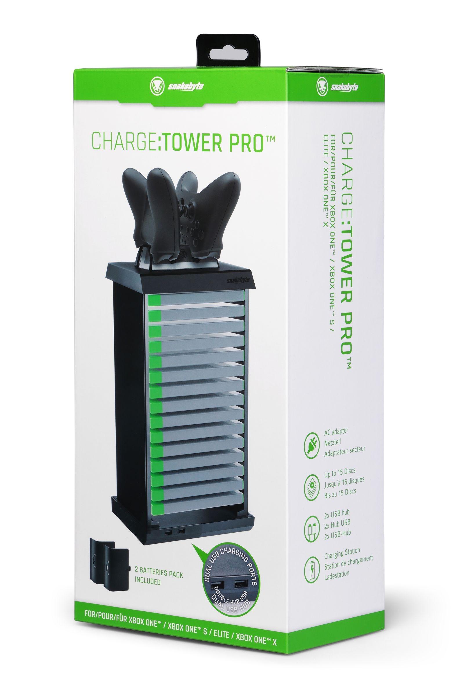 snakebyte ładowarka kontrolera Xbox One z akumulatorami CHARGE:TOWER PRO - 8