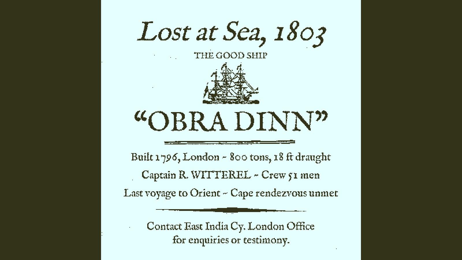 Return of the Obra Dinn (PC) - Steam Key - GLOBAL - 4