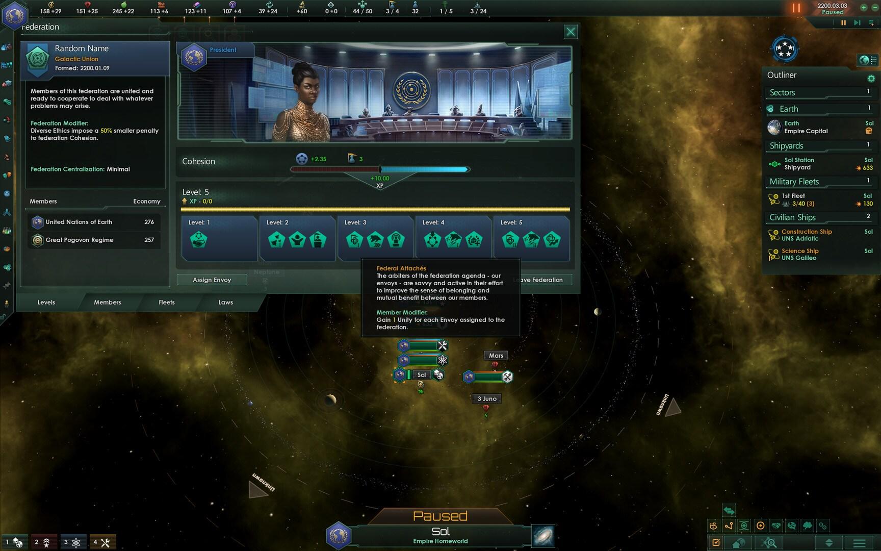 Stellaris: Federations (PC) - Steam Key - GLOBAL - 2