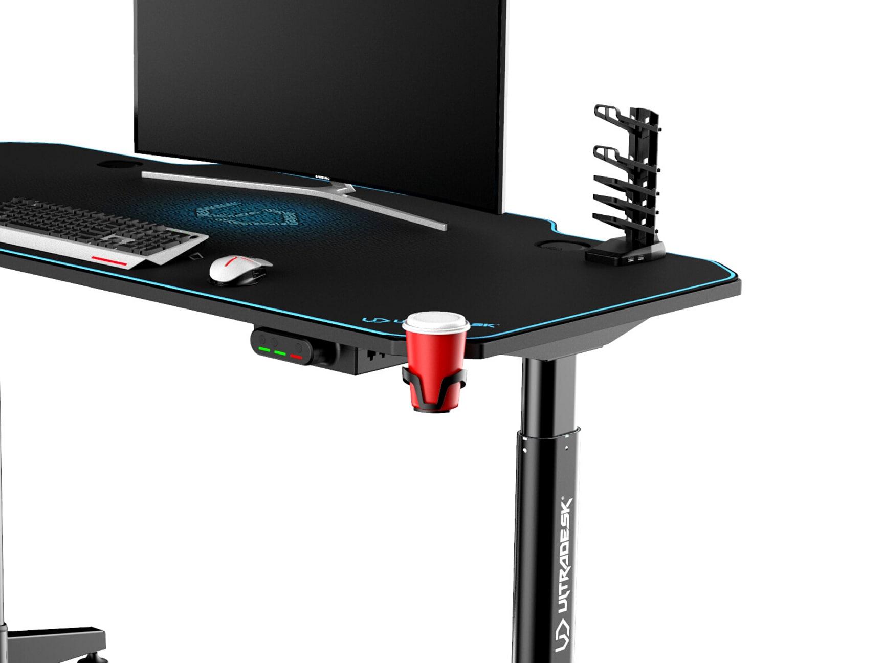 ULTRADESK LEVEL BLUE- electric gaming desk - 10