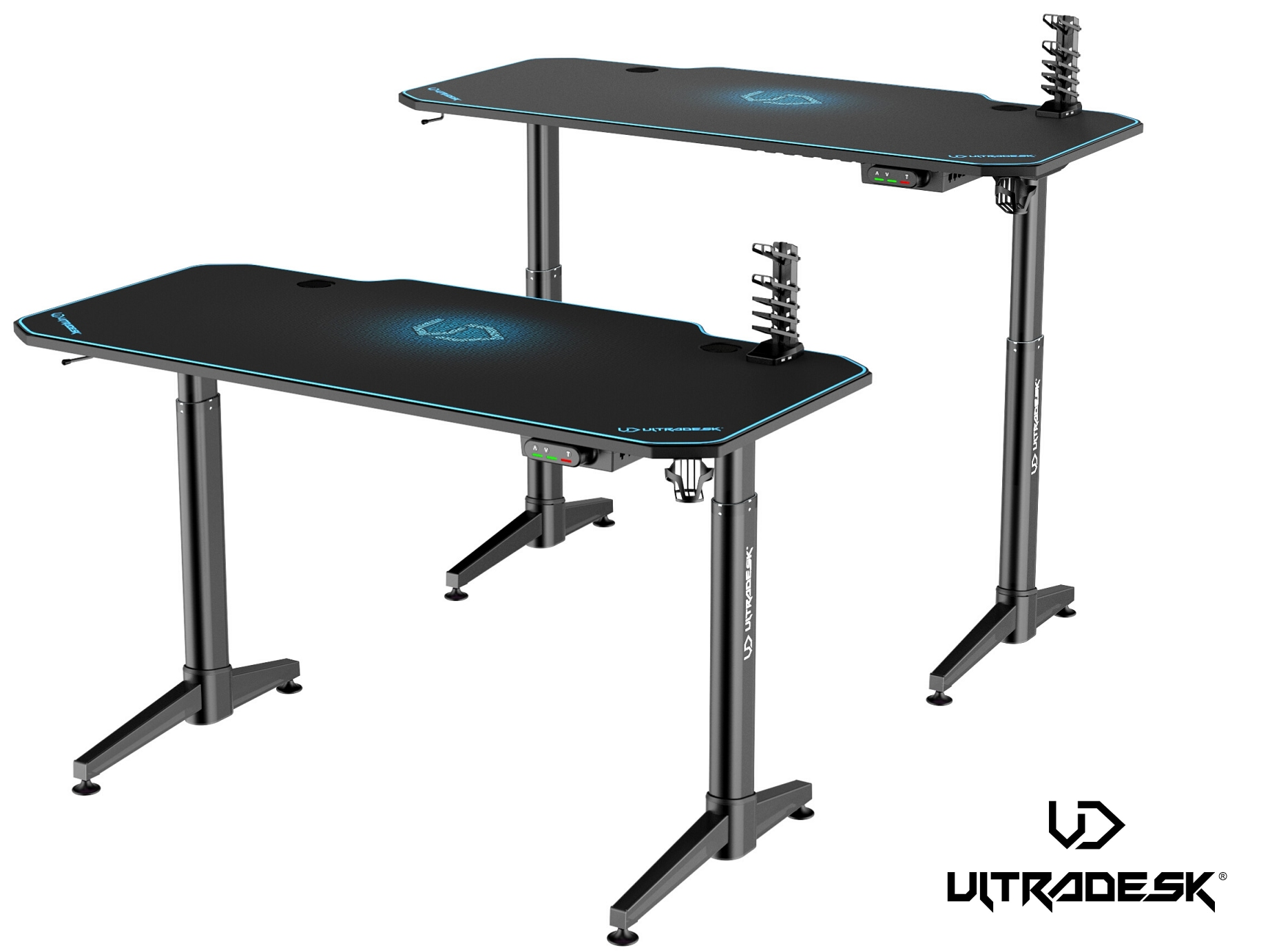ULTRADESK LEVEL BLUE- electric gaming desk - 12