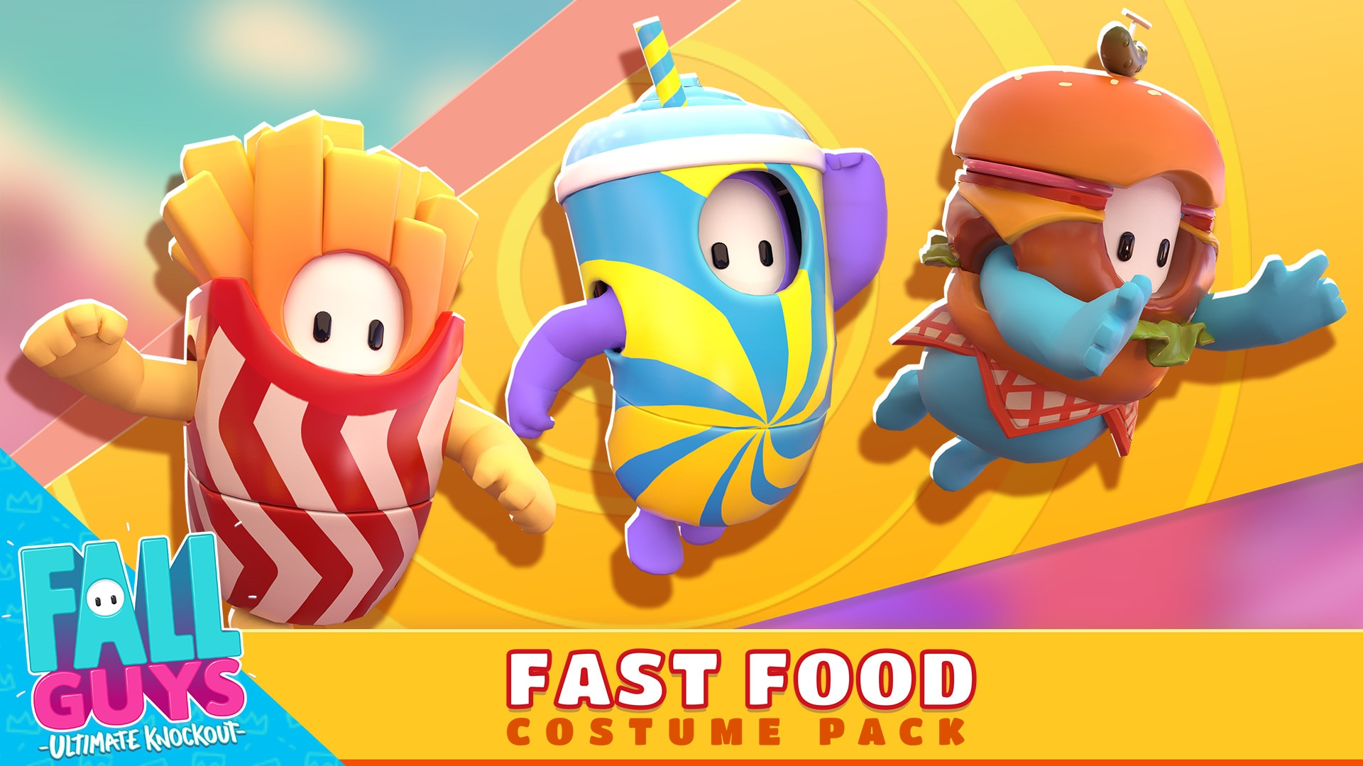 Fall Guys - Fast Food Costume Pack (PC) - Steam Gift - GLOBAL - 1