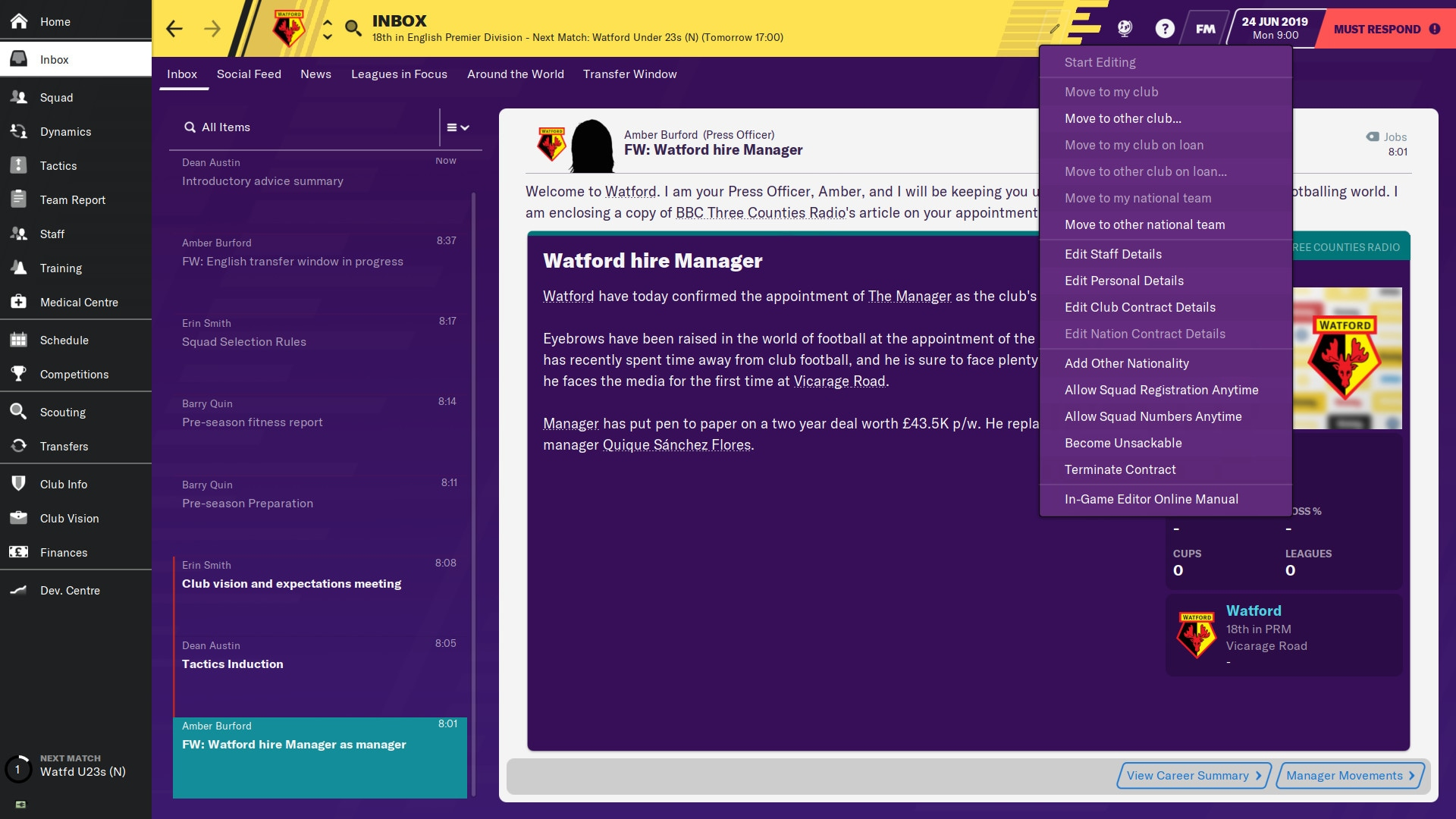Football Manager 2020 In-game Editor (PC) - Steam Gift - EUROPE - 1