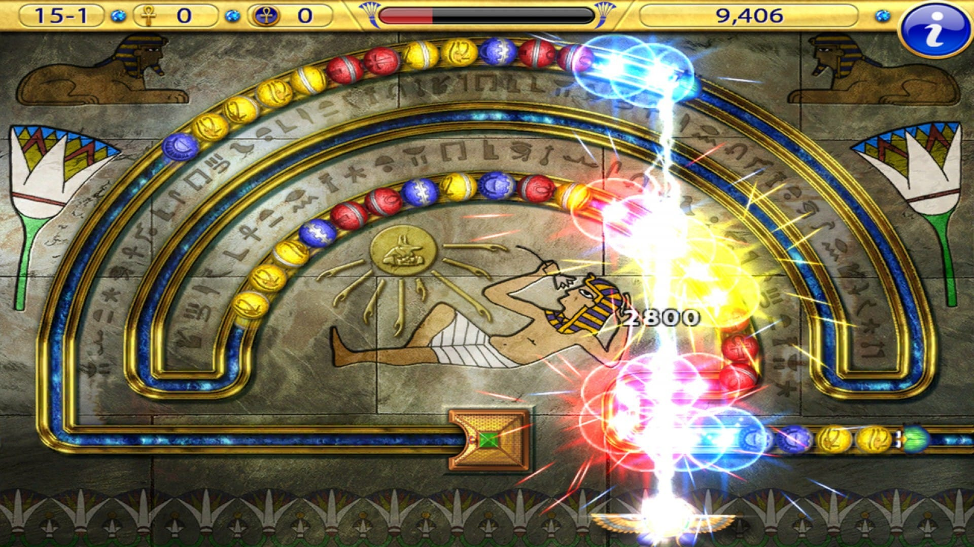 Luxor: Amun Rising HD Steam Key GLOBAL - 2