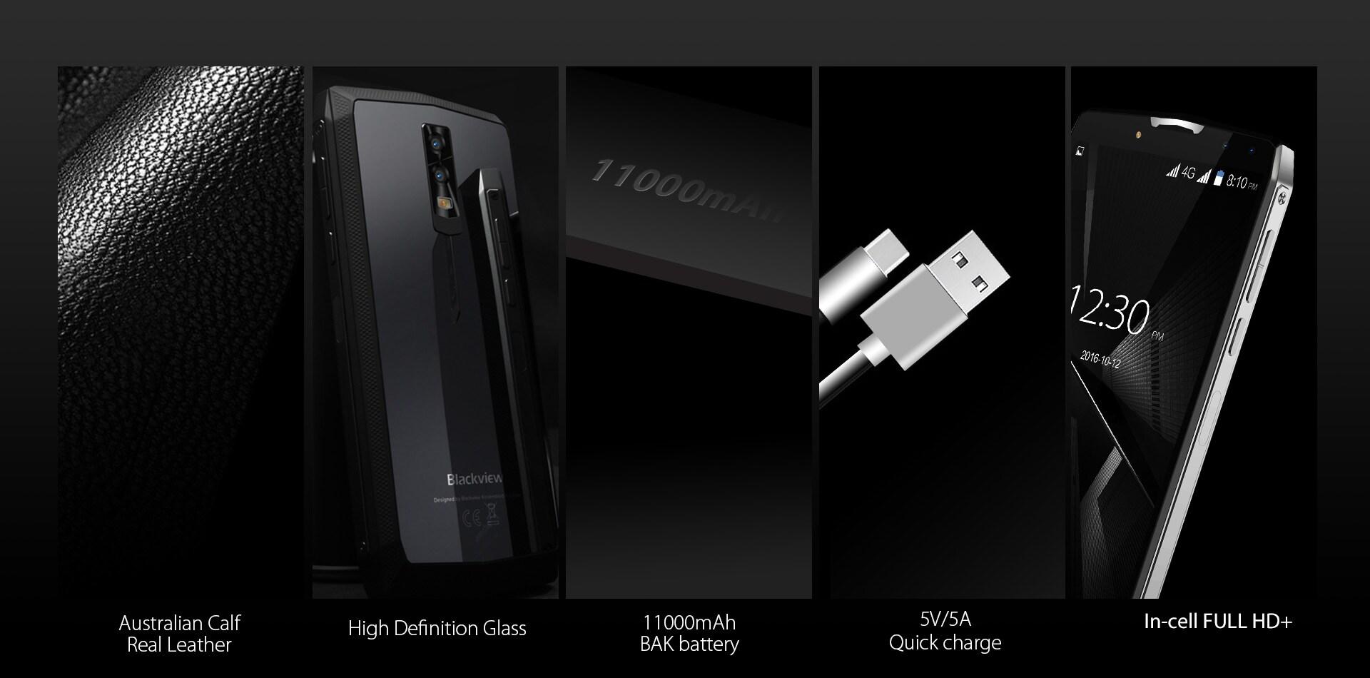 Blackview P10000 Pro 5.99 Inch FHD+ Full Screen 4GB RAM + 64GB ROM MT6763 Octa Core Smartphone Glass Black - 2