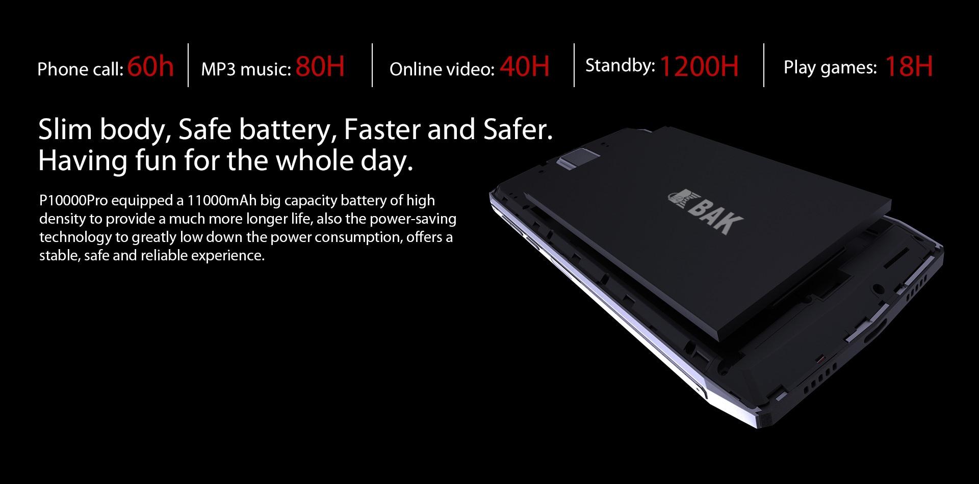 Blackview P10000 Pro 5.99 Inch FHD+ Full Screen 4GB RAM + 64GB ROM MT6763 Octa Core Smartphone Glass Black - 4