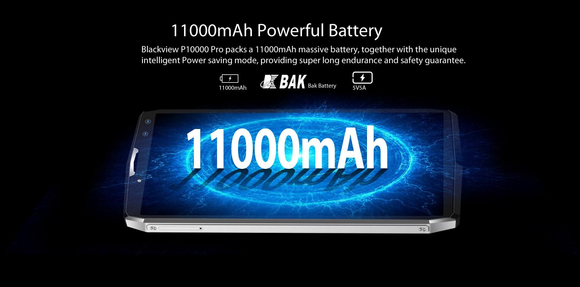 Blackview P10000 Pro 5.99 Inch FHD+ Full Screen 4GB RAM + 64GB ROM MT6763 Octa Core Smartphone Glass Black - 3