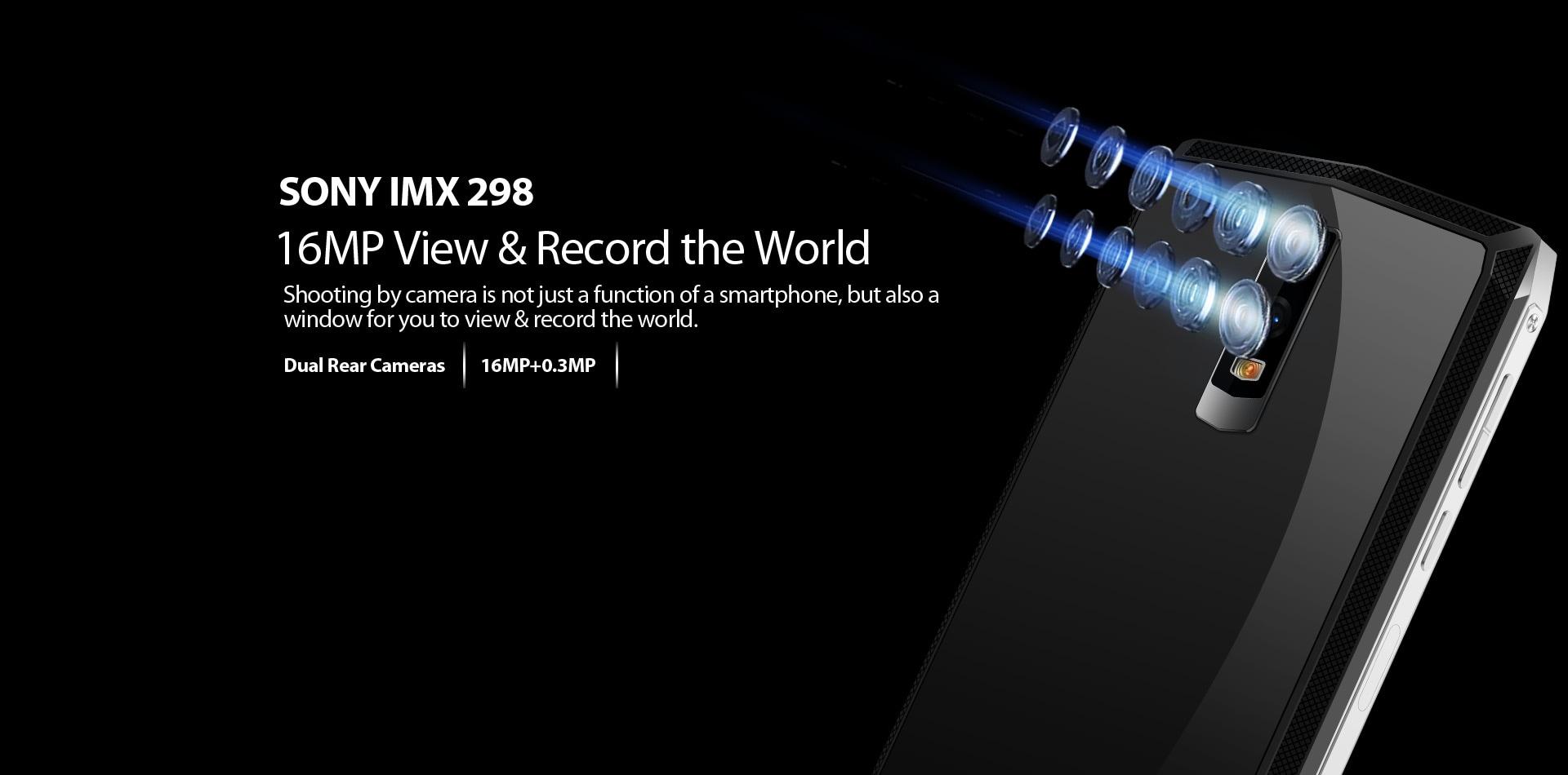 Blackview P10000 Pro 5.99 Inch FHD+ Full Screen 4GB RAM + 64GB ROM MT6763 Octa Core Smartphone Glass Black - 7
