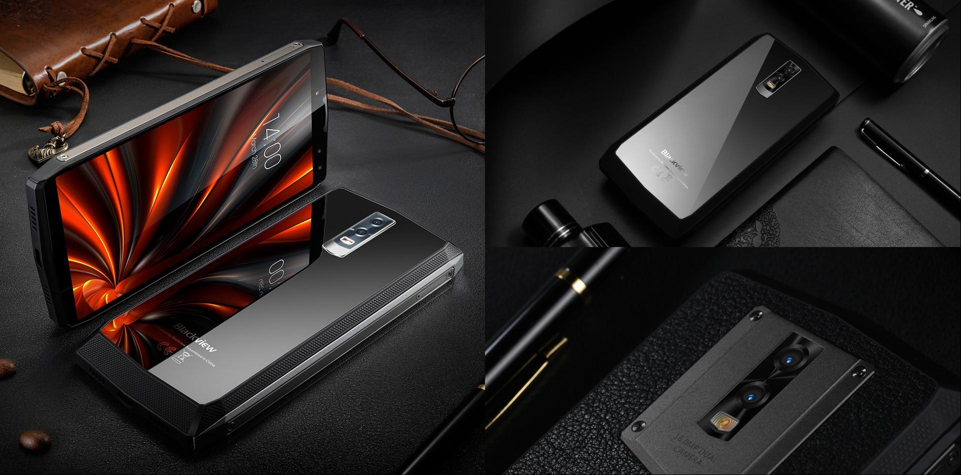 Blackview P10000 Pro 5.99 Inch FHD+ Full Screen 4GB RAM + 64GB ROM MT6763 Octa Core Smartphone Glass Black - 8