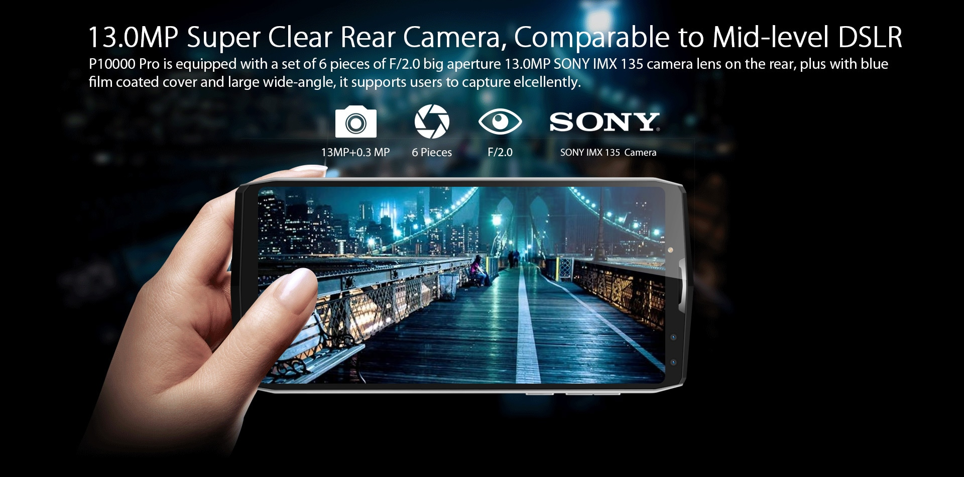 Blackview P10000 Pro 5.99 Inch FHD+ Full Screen 4GB RAM + 64GB ROM MT6763 Octa Core Smartphone Glass Black - 11