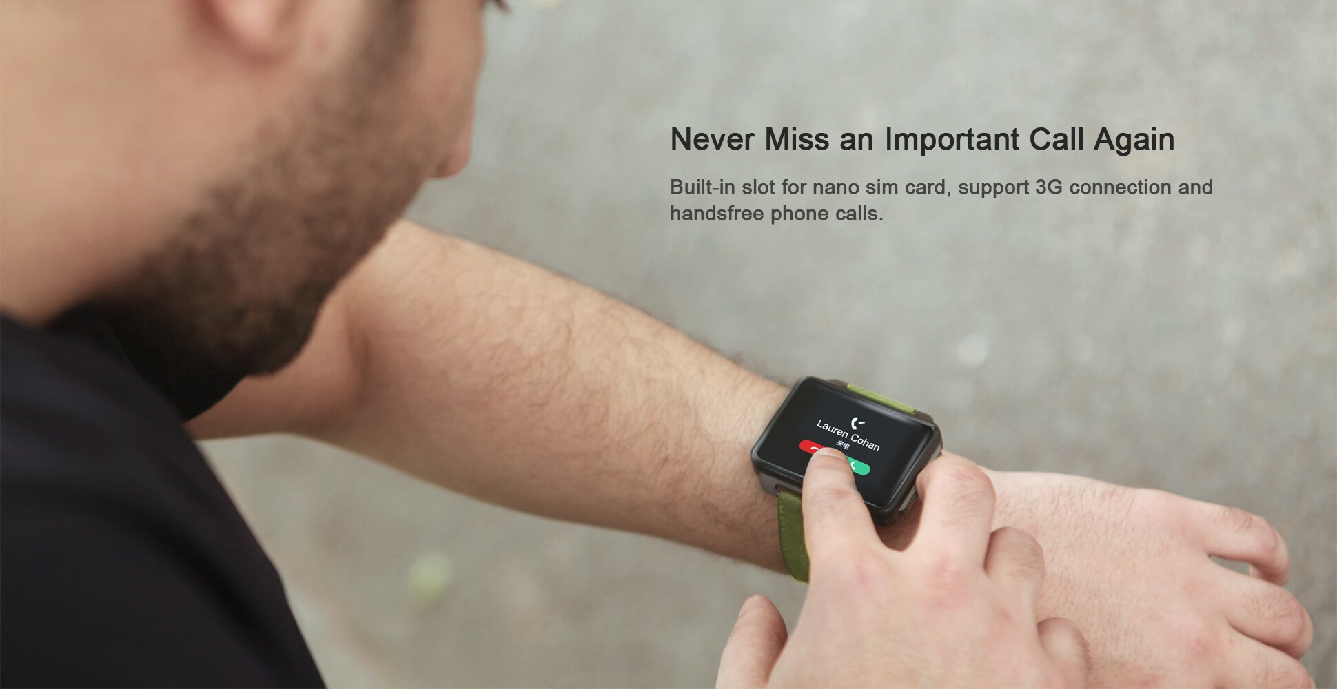 LEMFO LEM4 Pro 2.2 Inch Display 3G Smart Watch Android 5.1 1200mAh Lithium Battery 1GB + 16GB Wifi Take Video Orange - 8