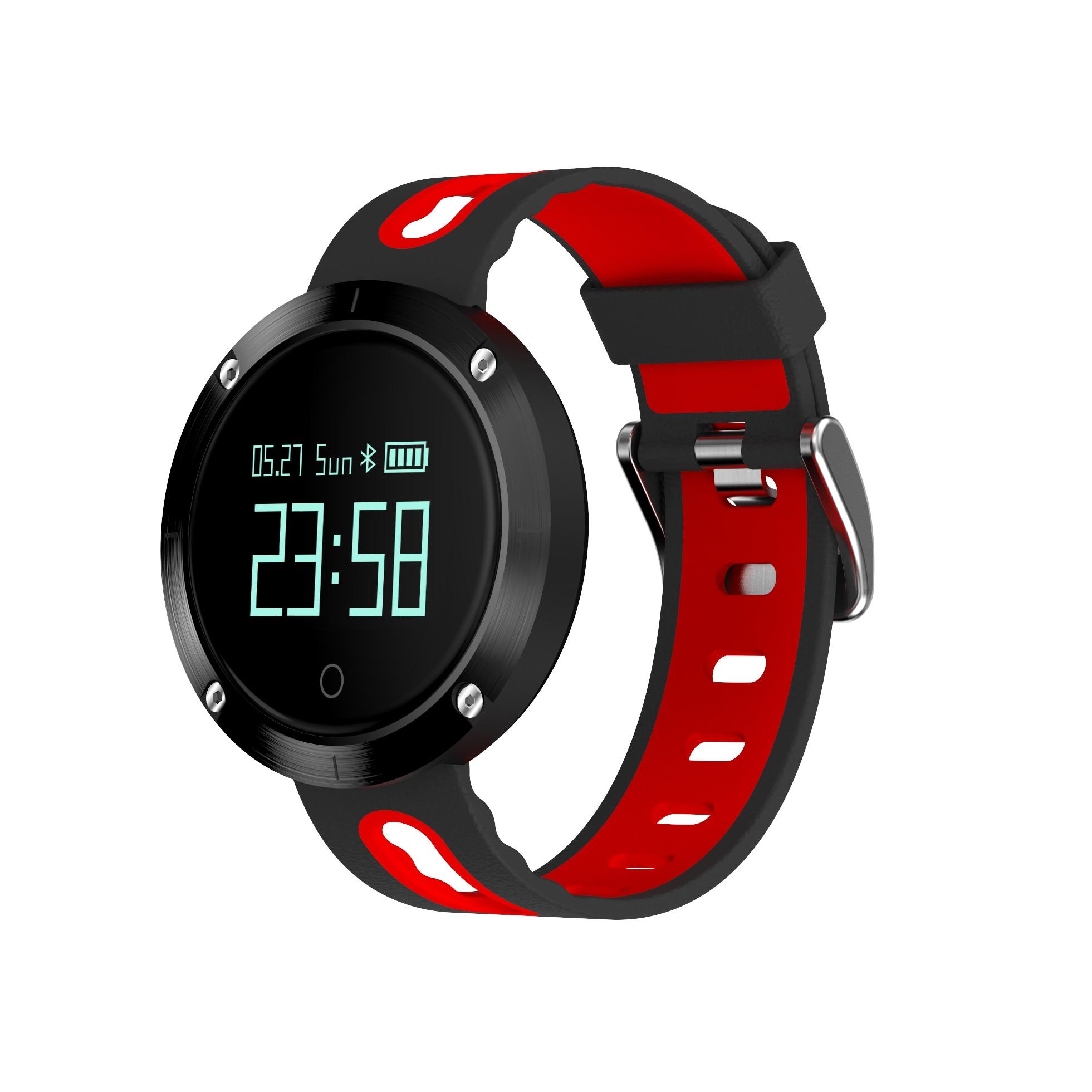 DOMINO DM58 0.95 Inch Round Display Screen Smart Bracelet Heart Rate Monitor Sport Wristband Fitness Tracker Black - 6