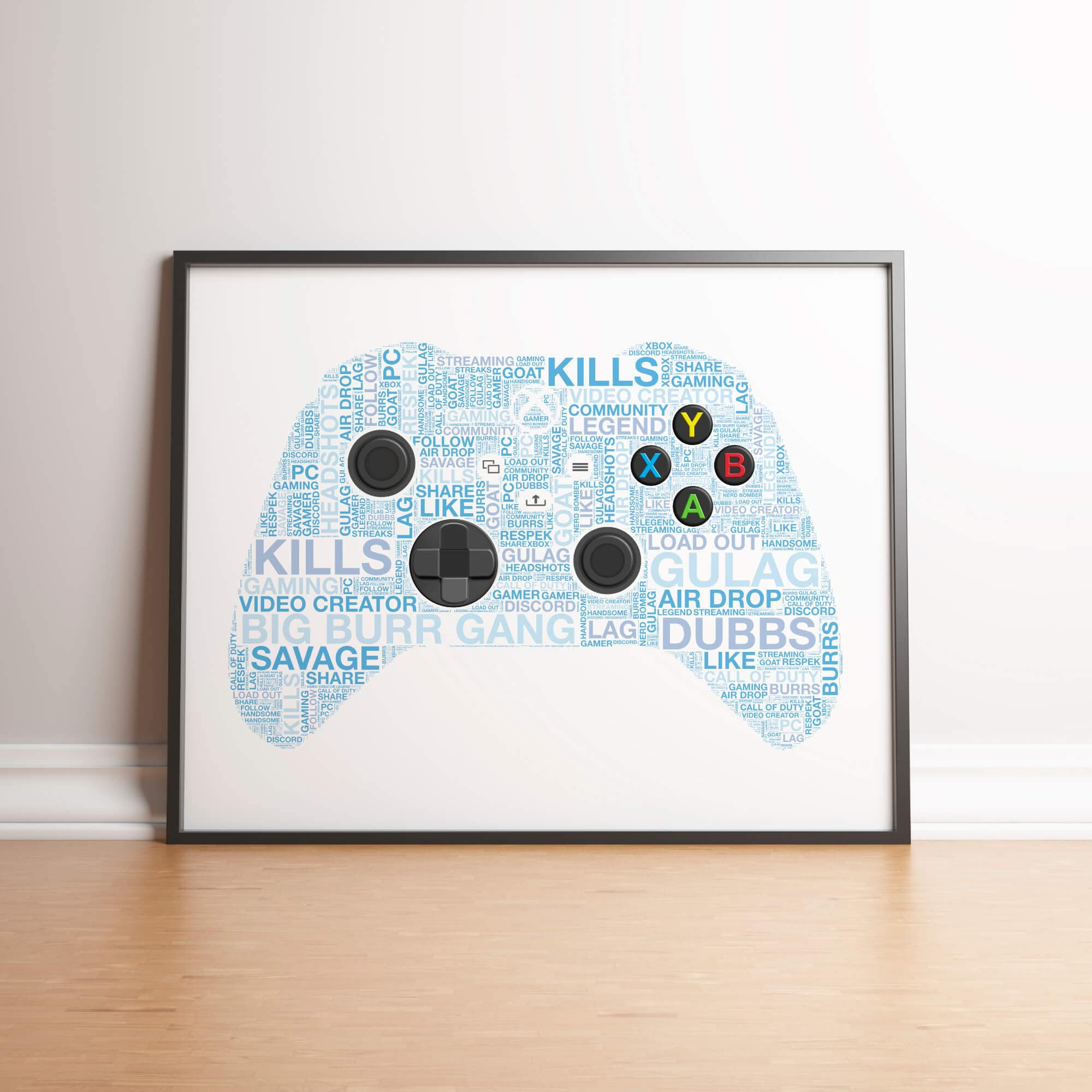 Personalised Xbox X Controller Print - 3