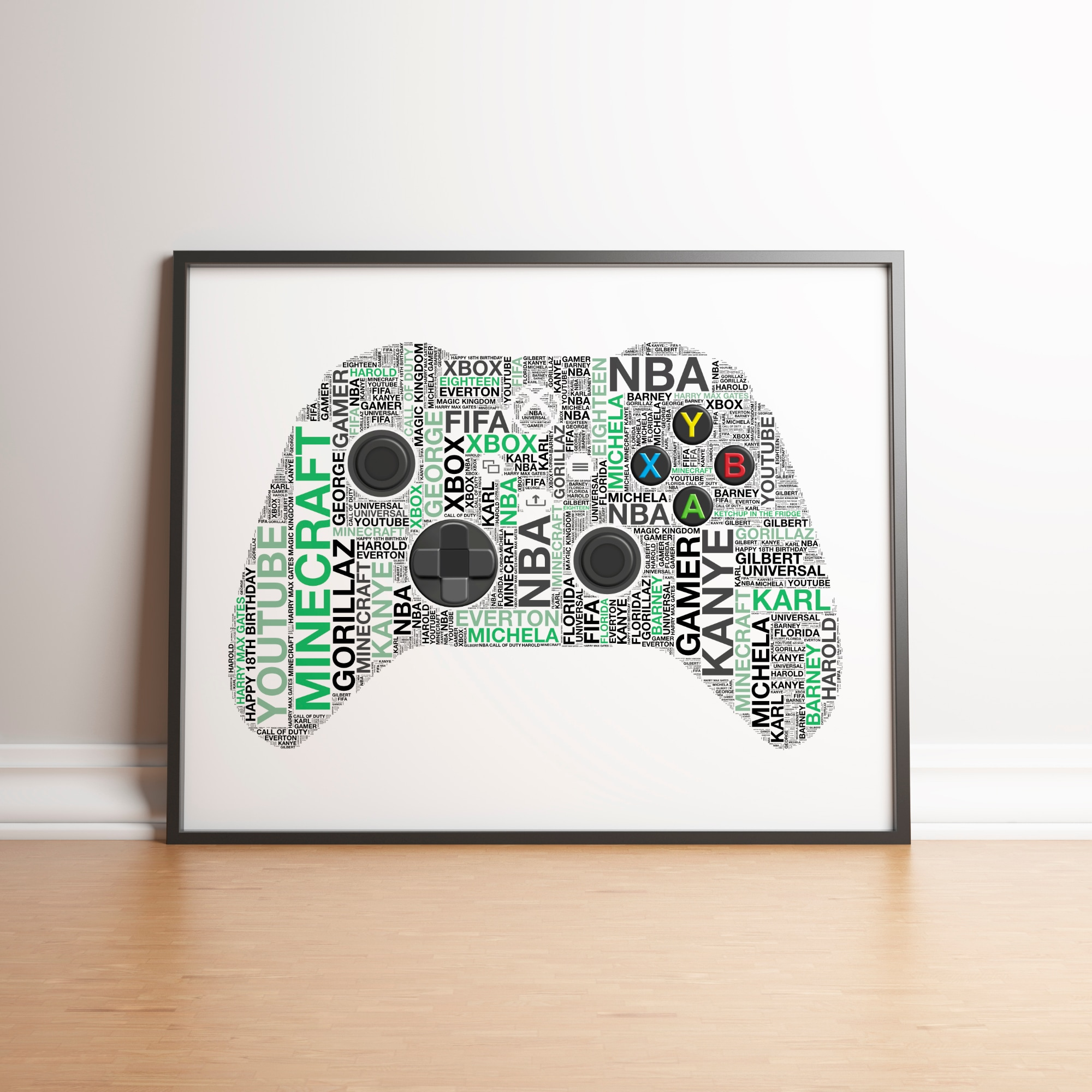Personalised Xbox X Controller Print - 2