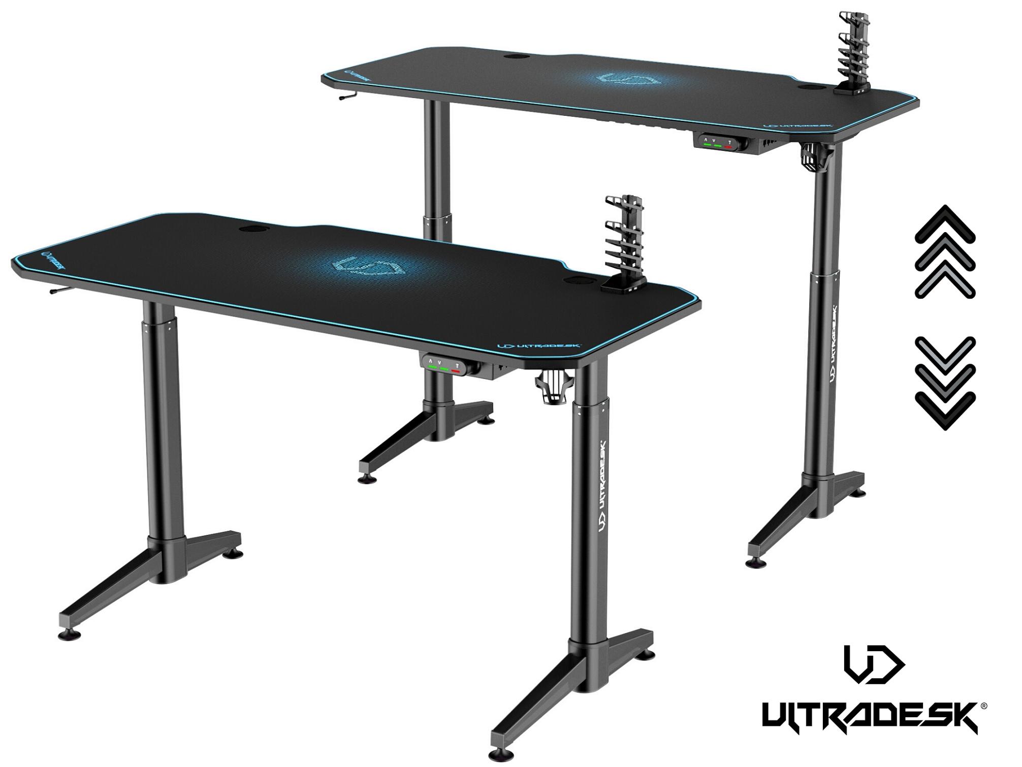 ULTRADESK LEVEL BLUE- electric gaming desk - 1