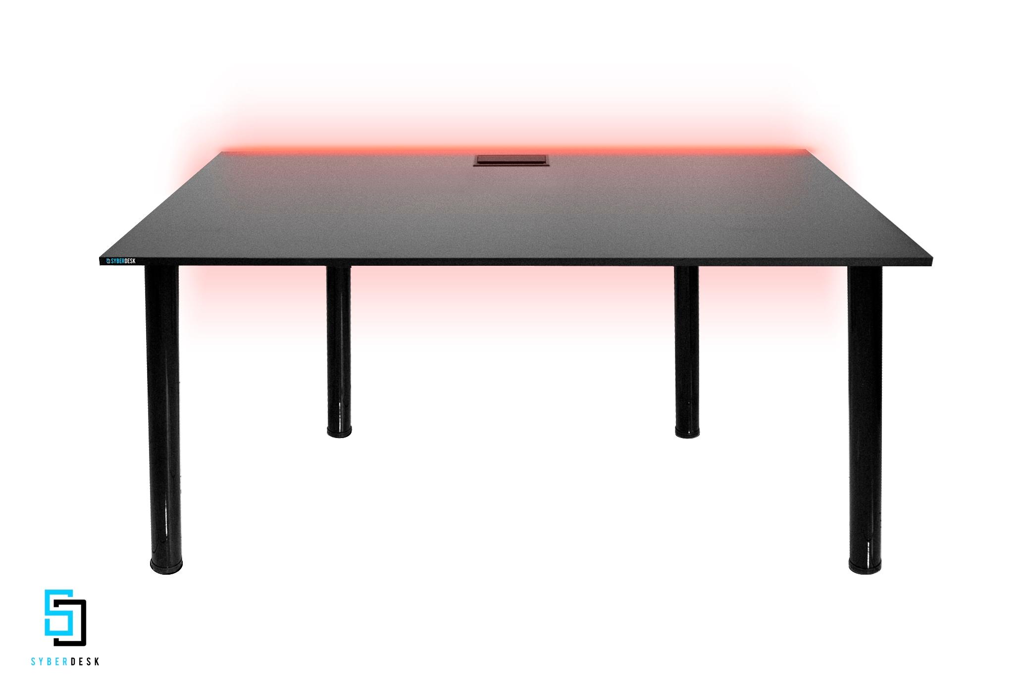 SyberDesk PRO LED Black Gaming - 1