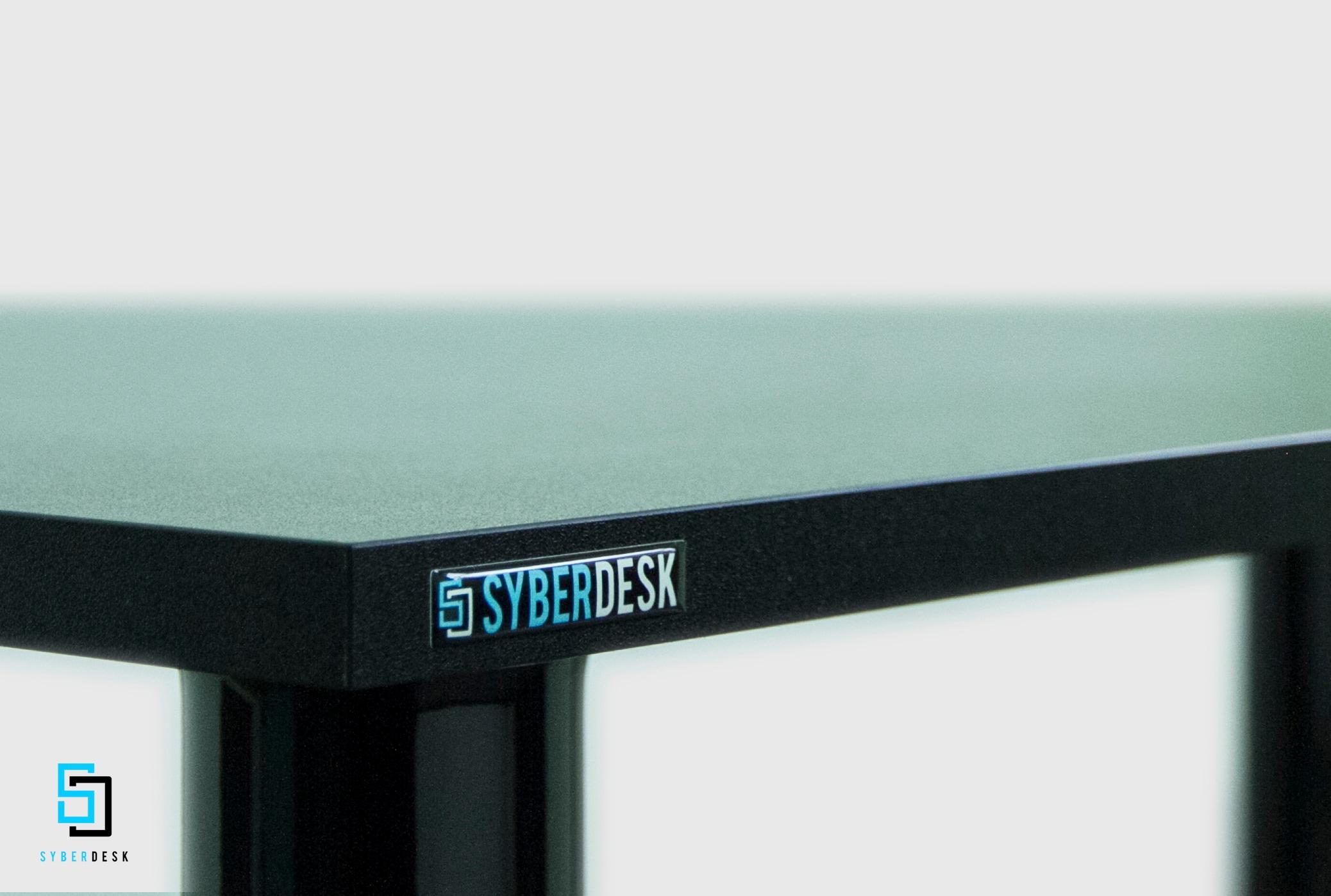 SyberDesk PRO LED USB Black Gaming - 3
