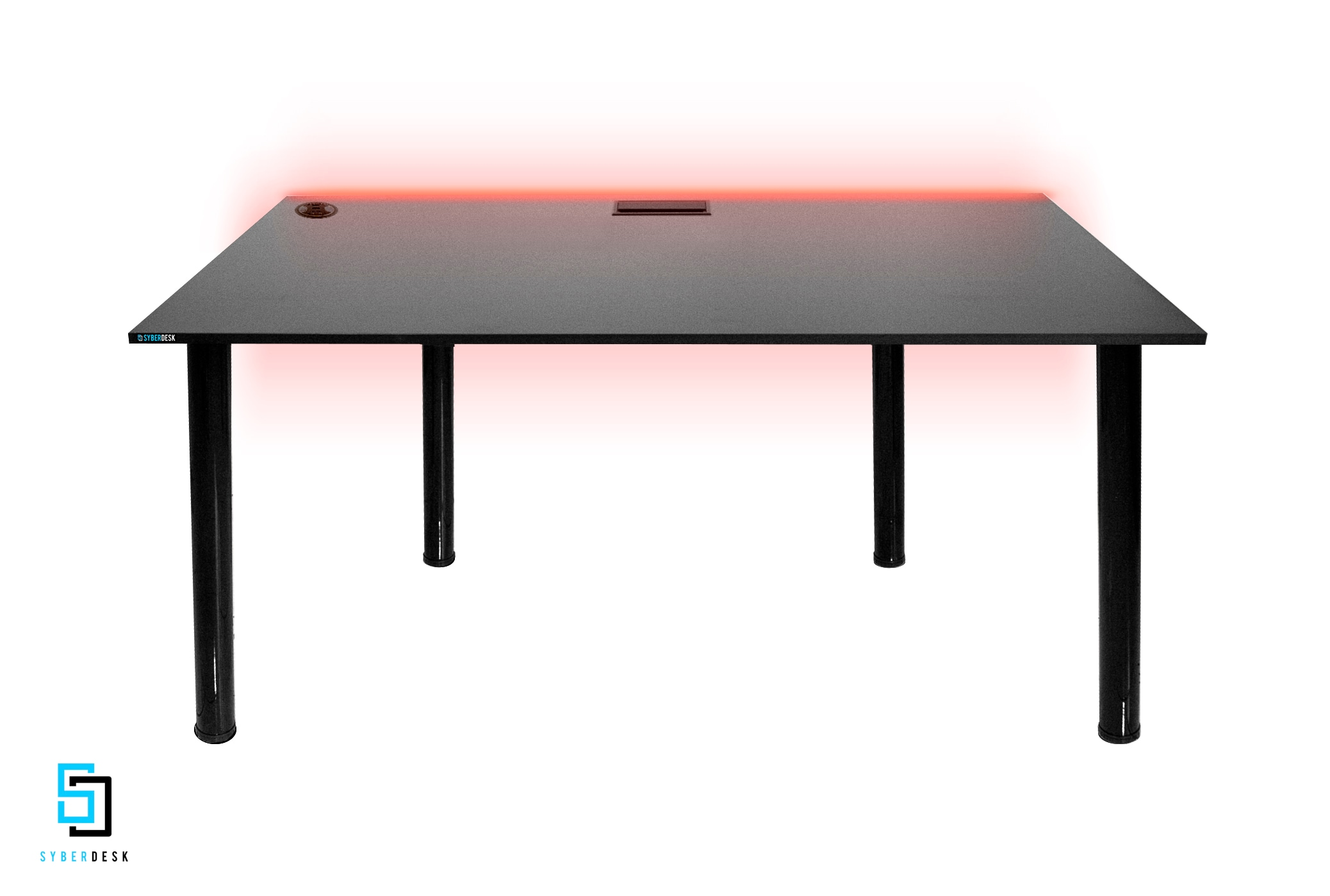 SyberDesk PRO LED USB Black Gaming - 2