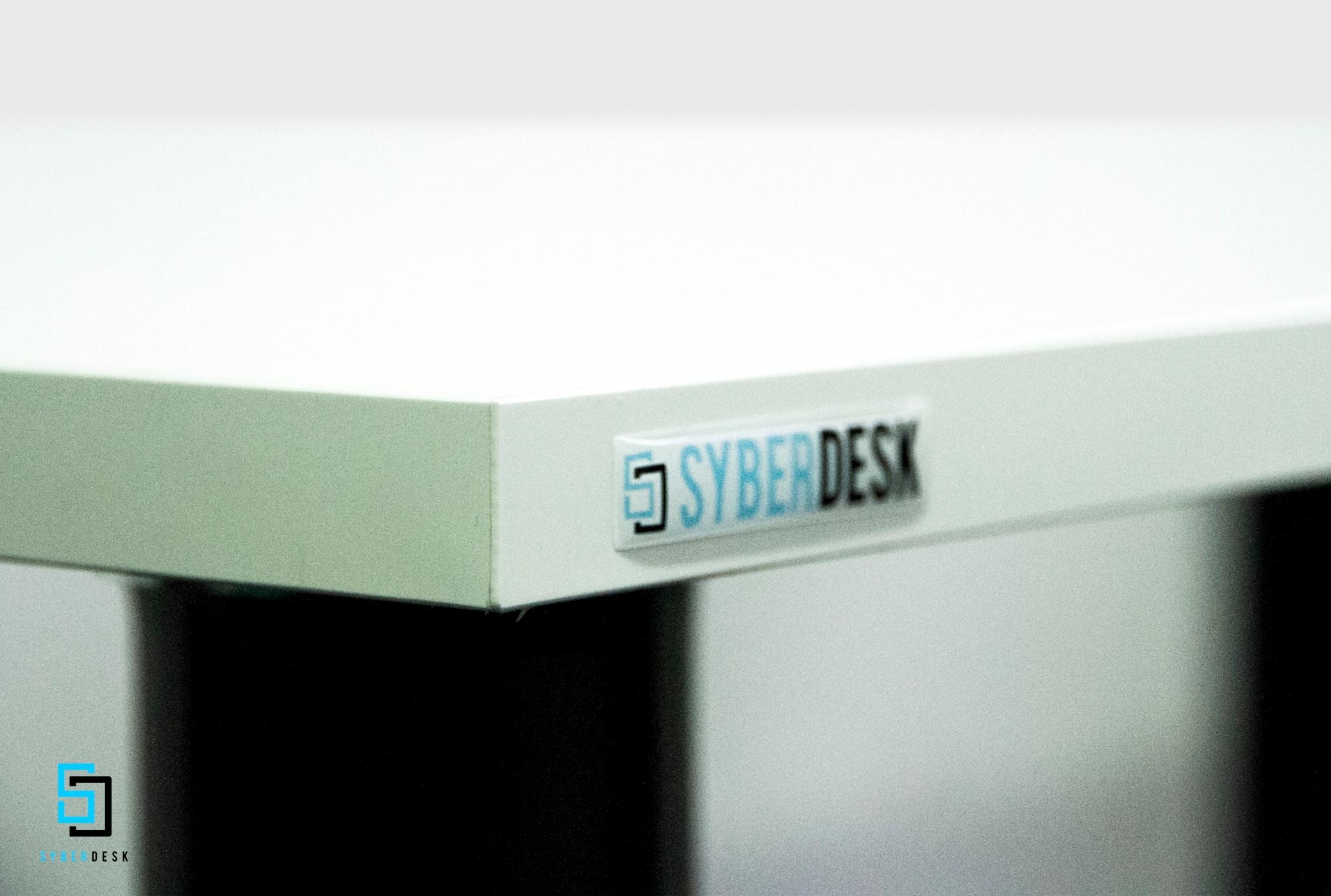 SyberDesk PRO LED USB WHITE White Gaming - 3