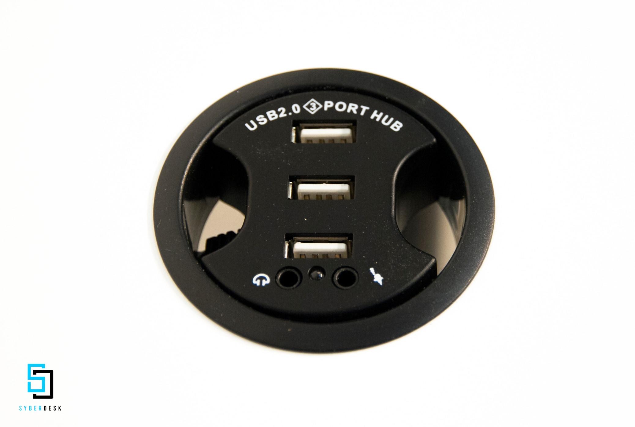 SyberDesk PRO LED USB WHITE White Gaming - 6