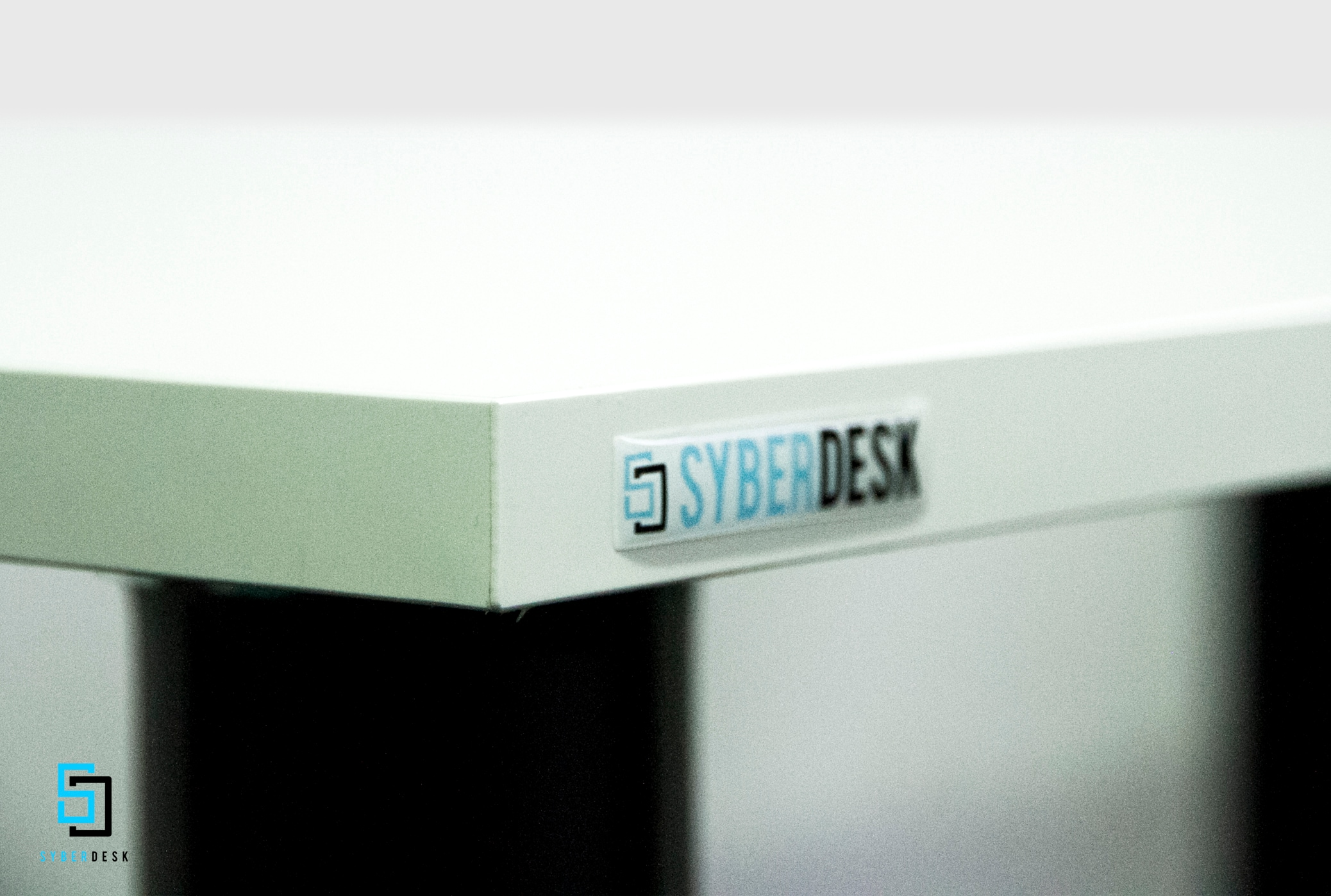 SyberDesk PRO LED WHITE White Gaming - 2