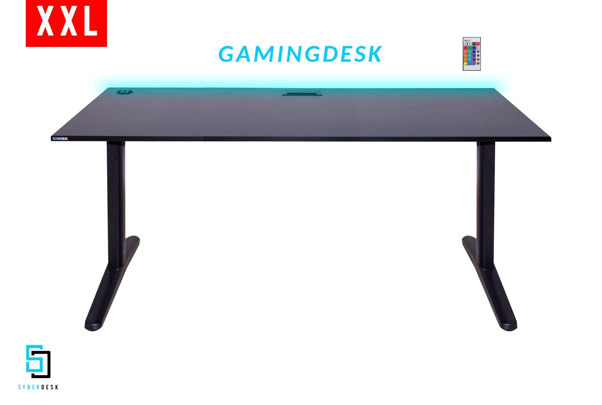 SyberDesk ULTRA XXL LED USB Black Gaming - 2
