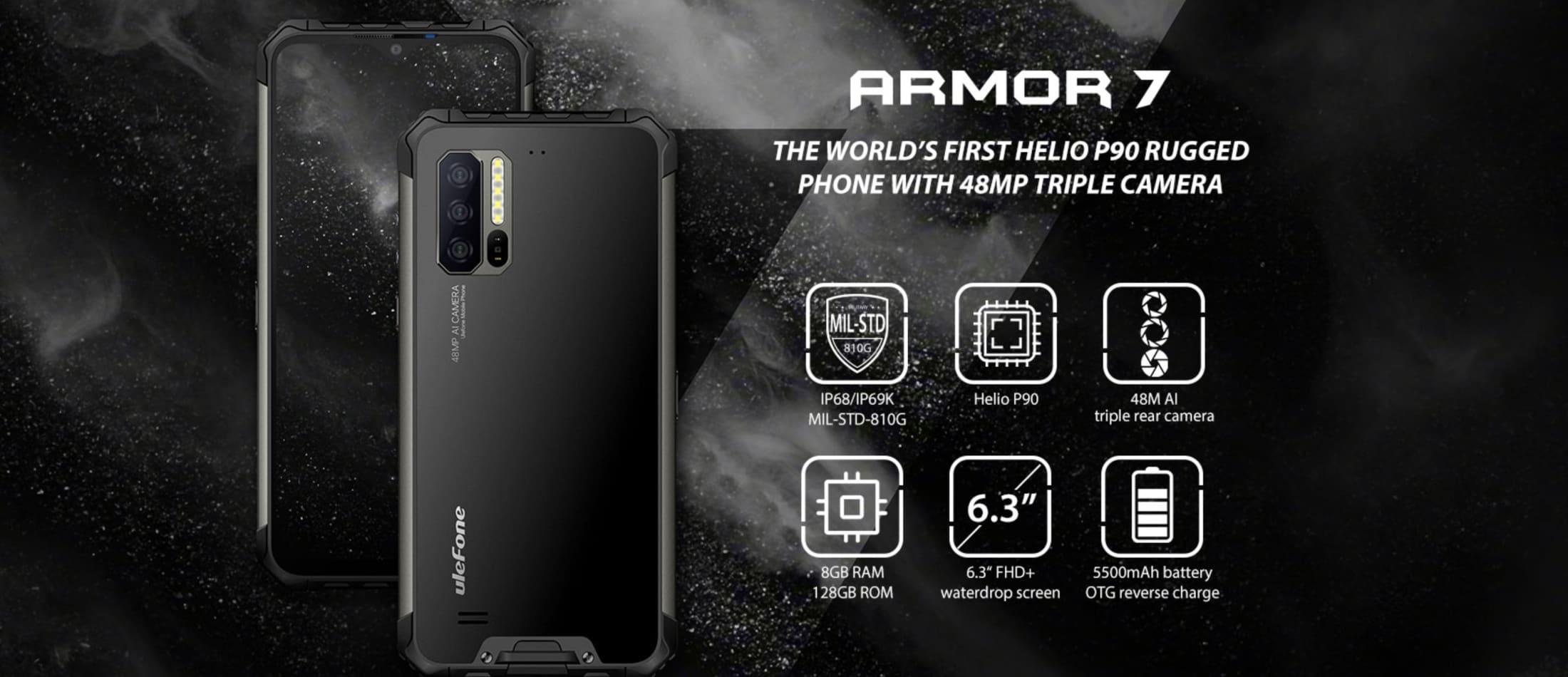 ULEFONE ARMOR 7 Black 128 GB 8 GB - 3