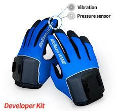 Rękawice haptyczne do VR Mollisen z czujnikiem nacisku + 2 uchwyty na VR - 1