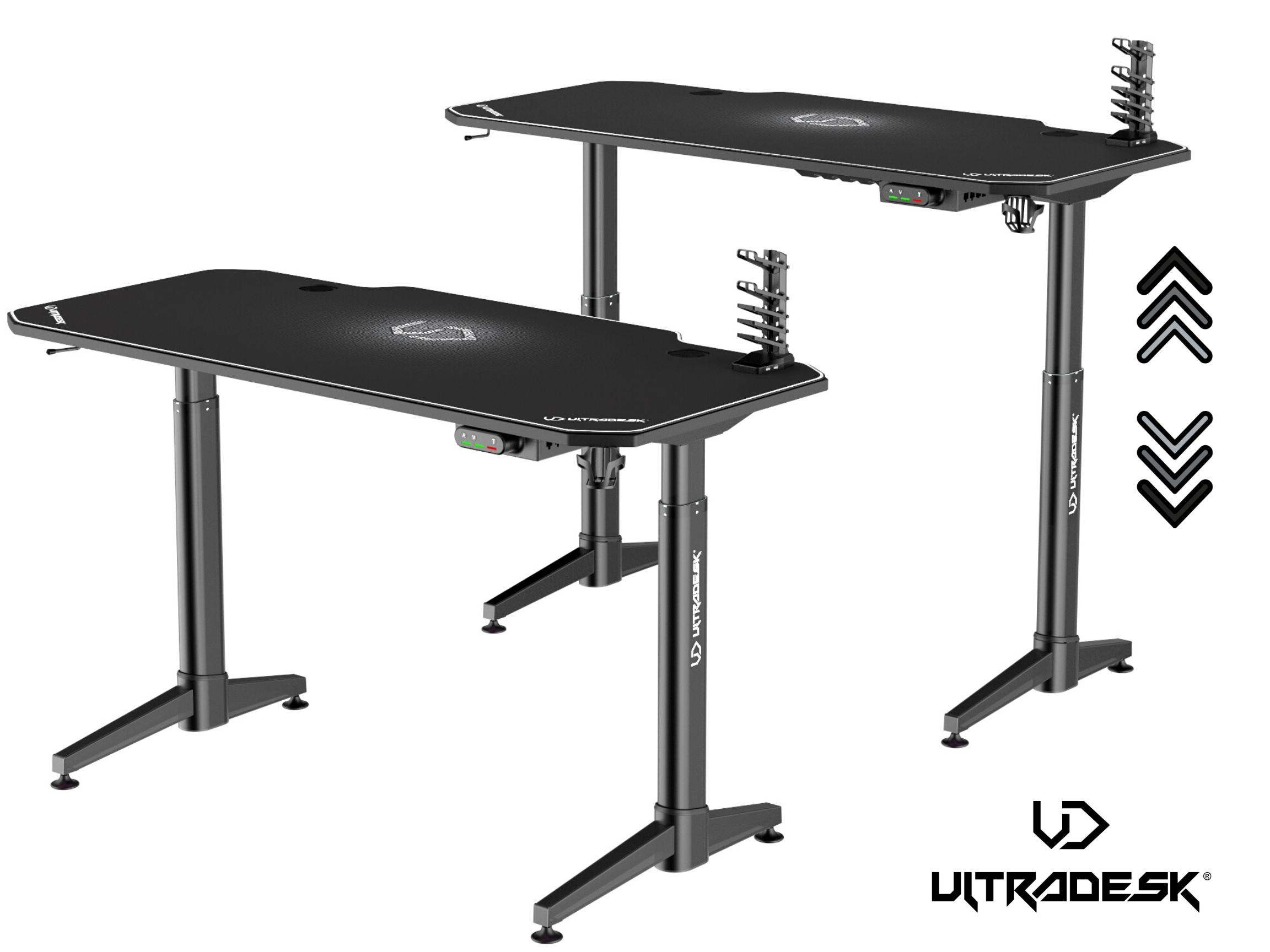 ULTRADESK LEVEL WHITE - electric gaming desk - 1