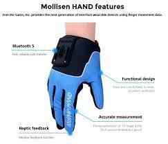 Rękawice haptyczne do VR Mollisen z czujnikiem nacisku + 2 uchwyty na VR - 3