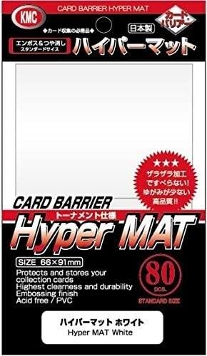 KMC Standard Sleeves - Hyper Mat White (80) - 1
