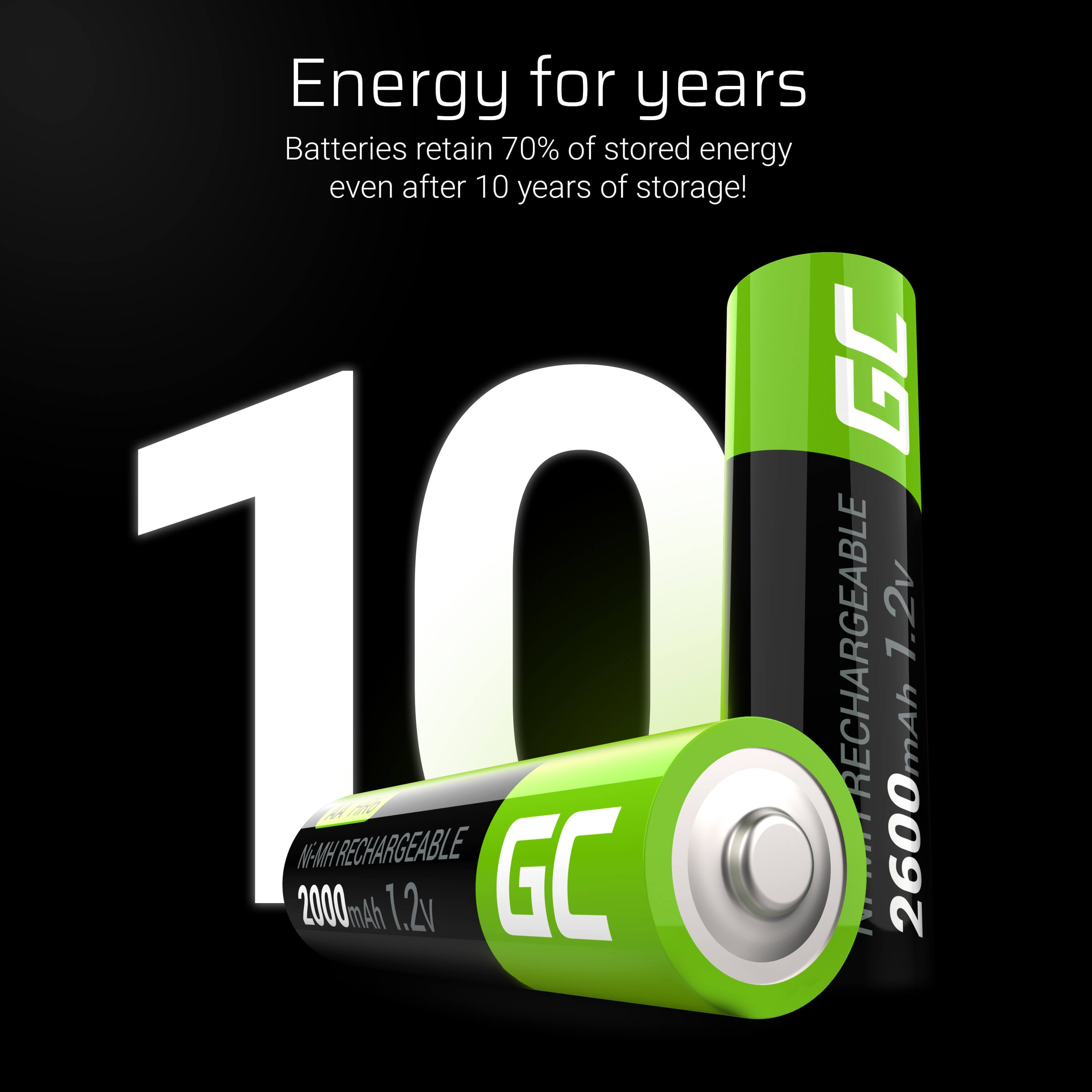 GC® 2x AA rechargeable batteries 2000mAh HR6 Green Cell - 6