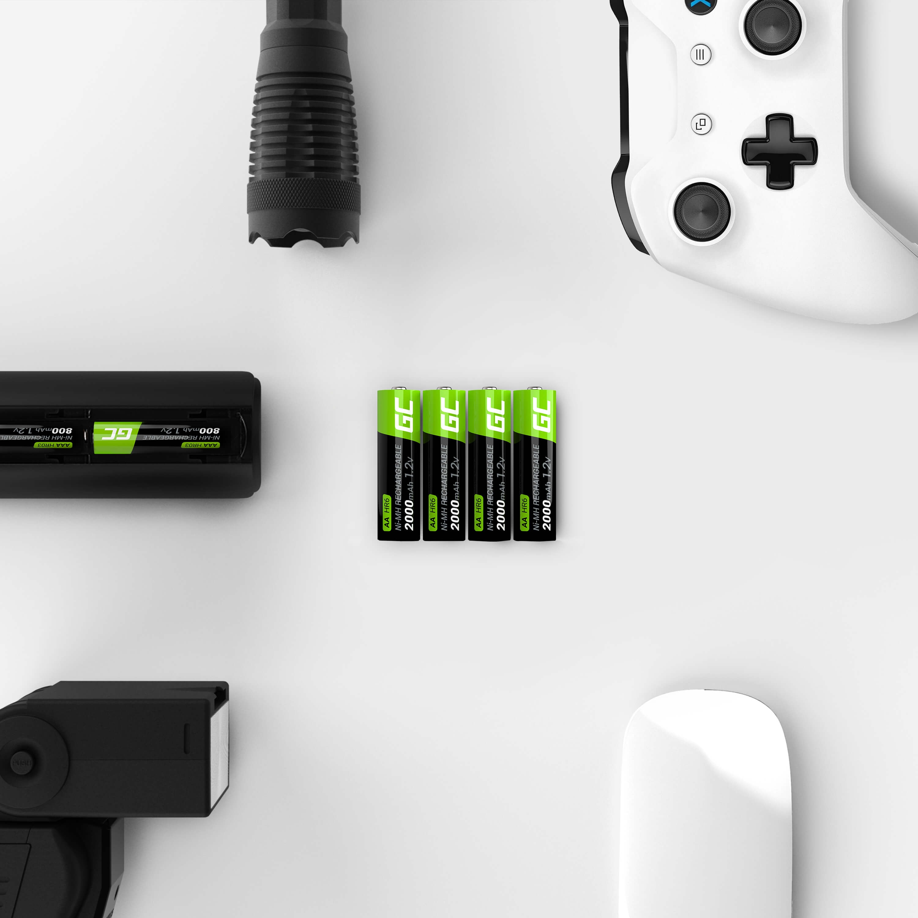 GC® 2x AA rechargeable batteries 2000mAh HR6 Green Cell - 5