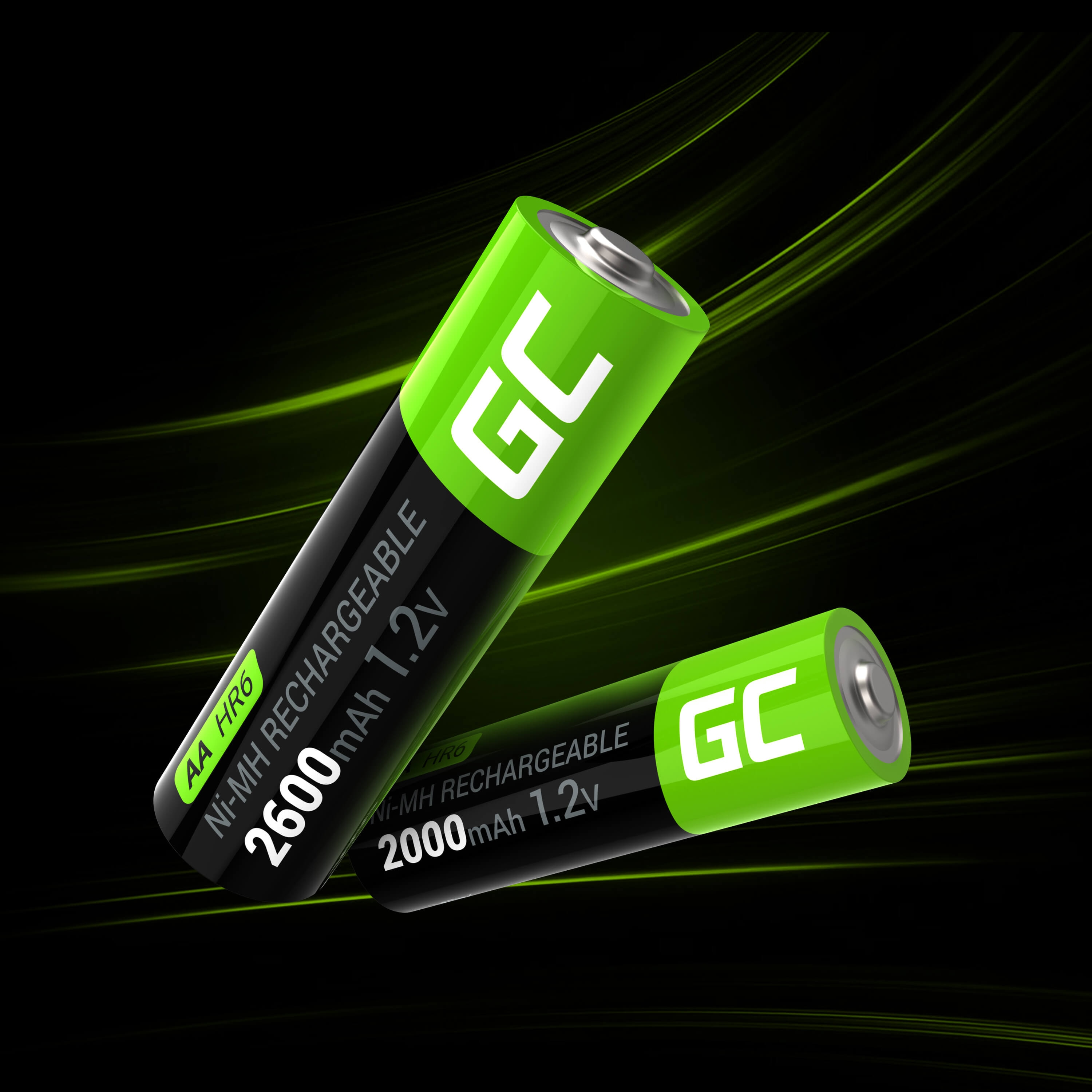 GC® 2x AA rechargeable batteries 2000mAh HR6 Green Cell - 8