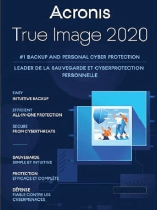 Acronis True Image Backup Software 2020 PC, Android, Mac, iOS - (1 Device, Lifetime) - Acronis Key GLOBAL - 1